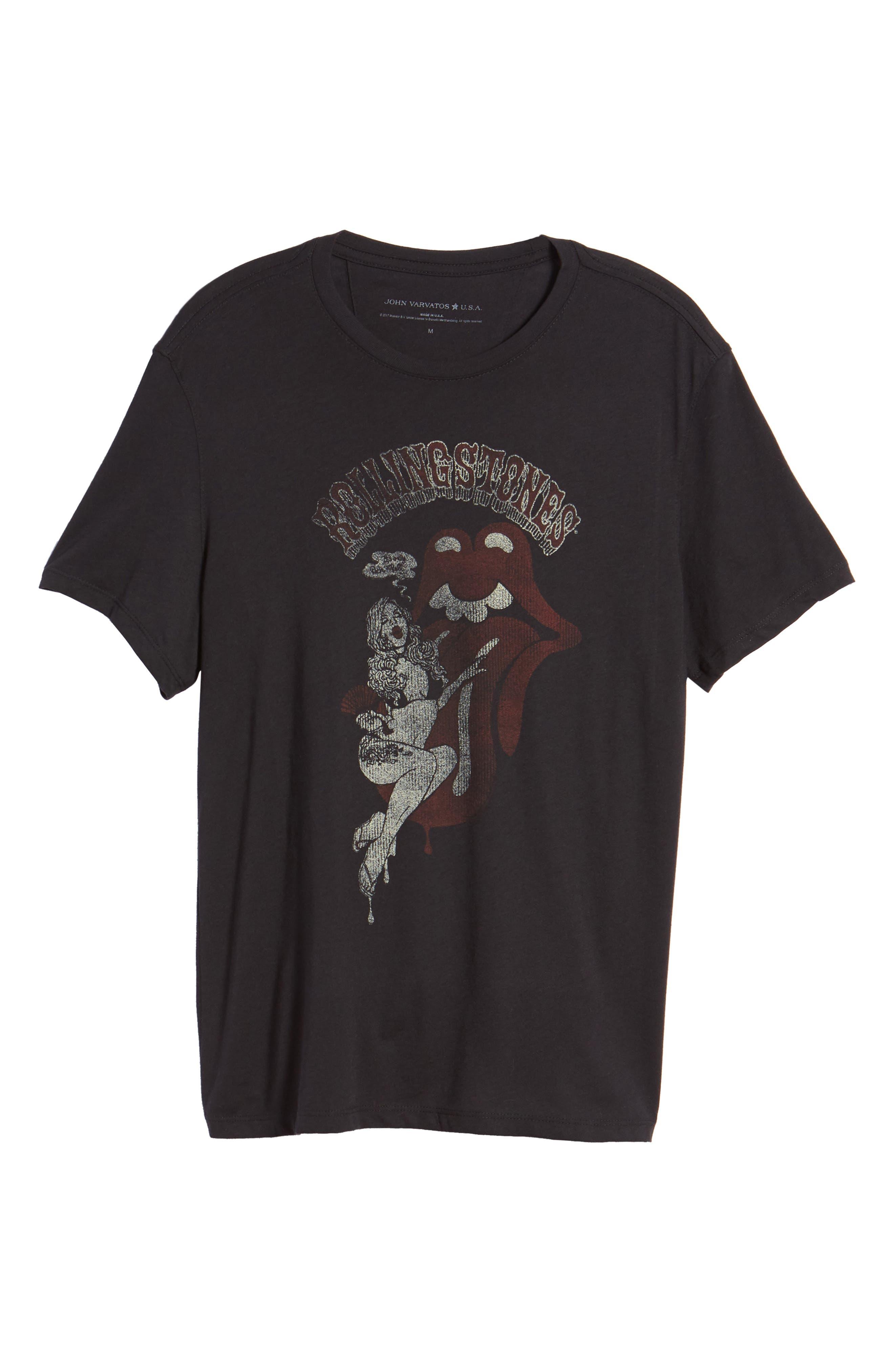 Rolling Stones Graphic T-Shirt,                             Alternate thumbnail 6, color,                             001