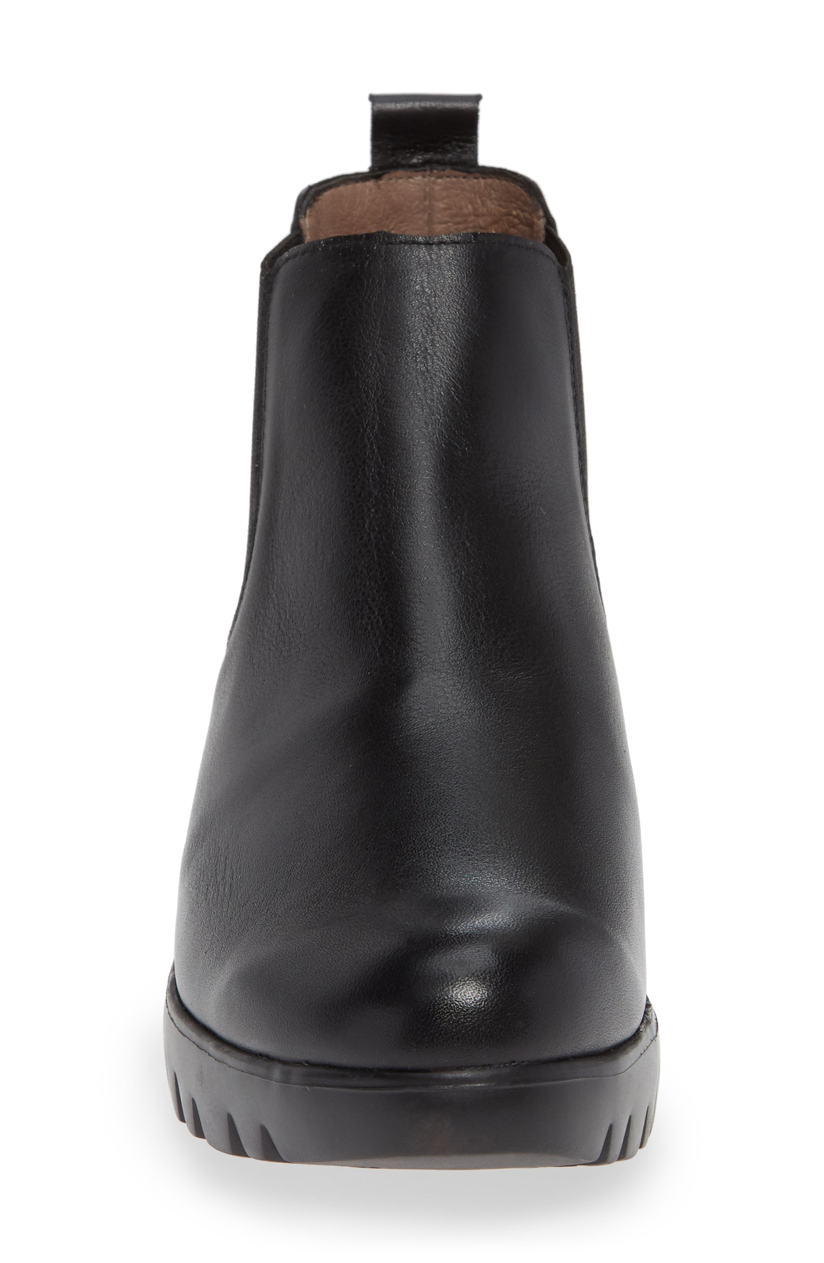 Slip-On Chelsea Boot,                             Alternate thumbnail 4, color,                             BLACK SMOOTH LEATHER