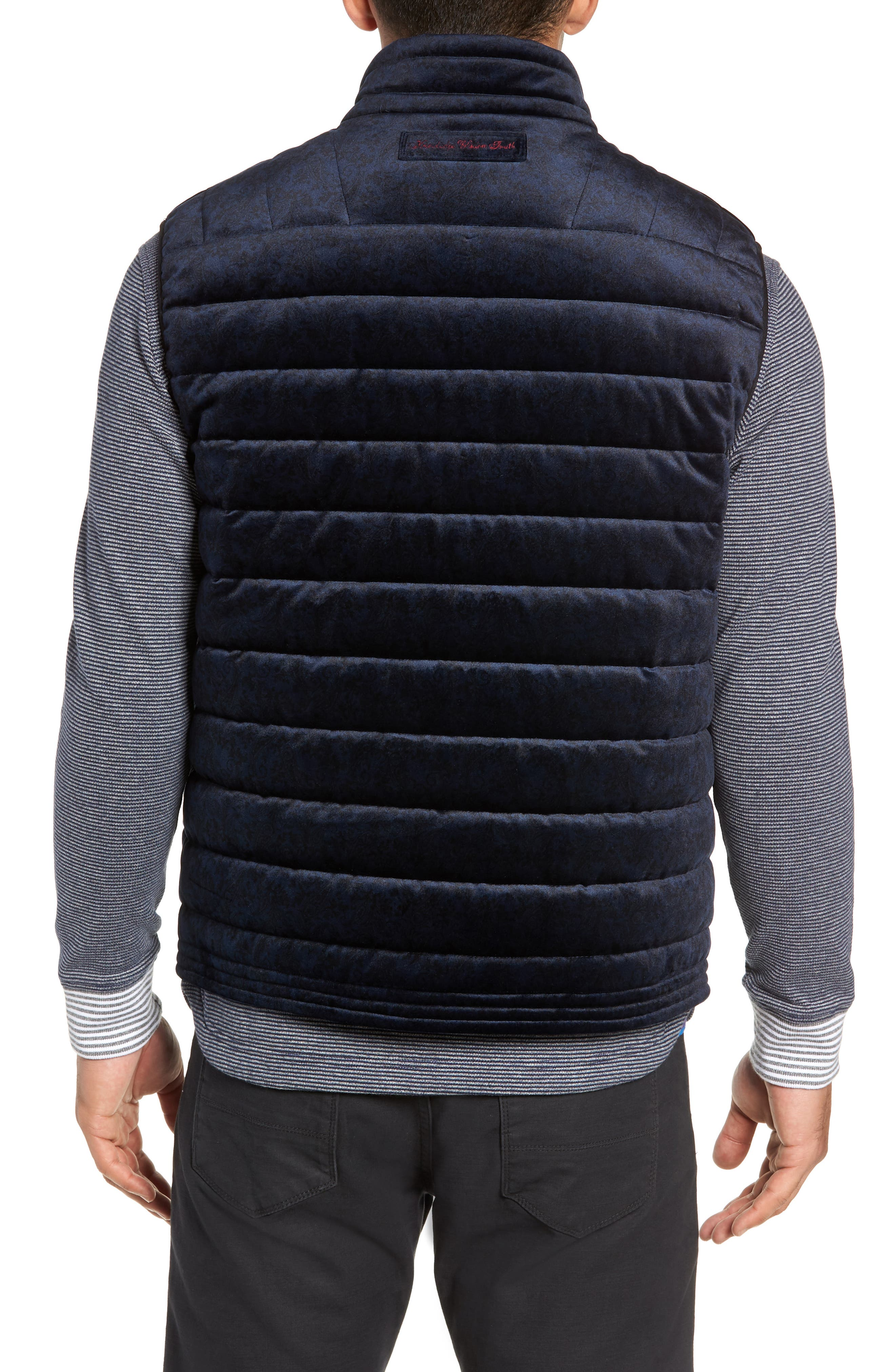 Guiffery Classic Fit Quilted Vest,                             Alternate thumbnail 2, color,                             NAVY