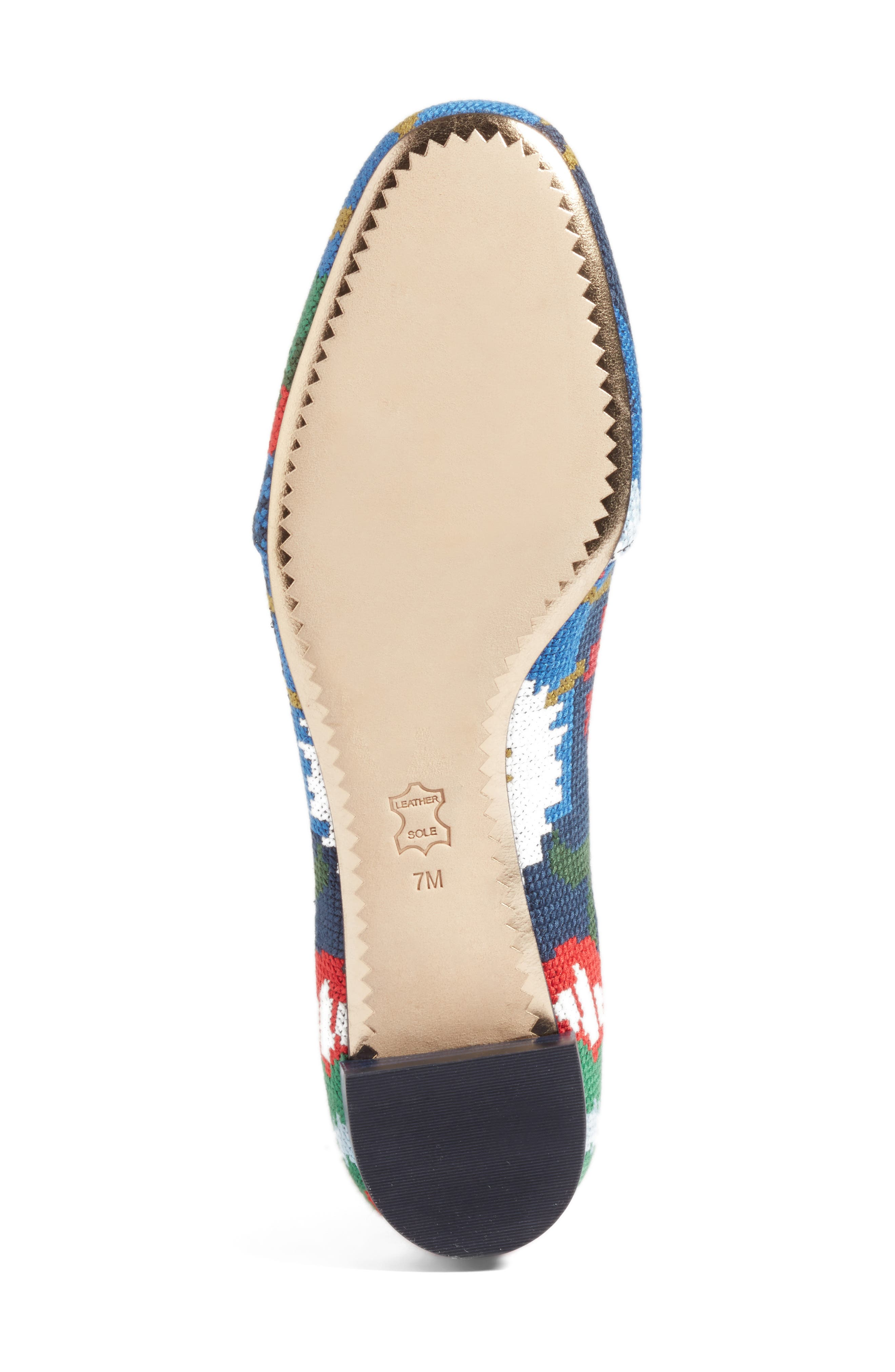 Sadie Floral Cross Stitch Loafer,                             Alternate thumbnail 6, color,                             478