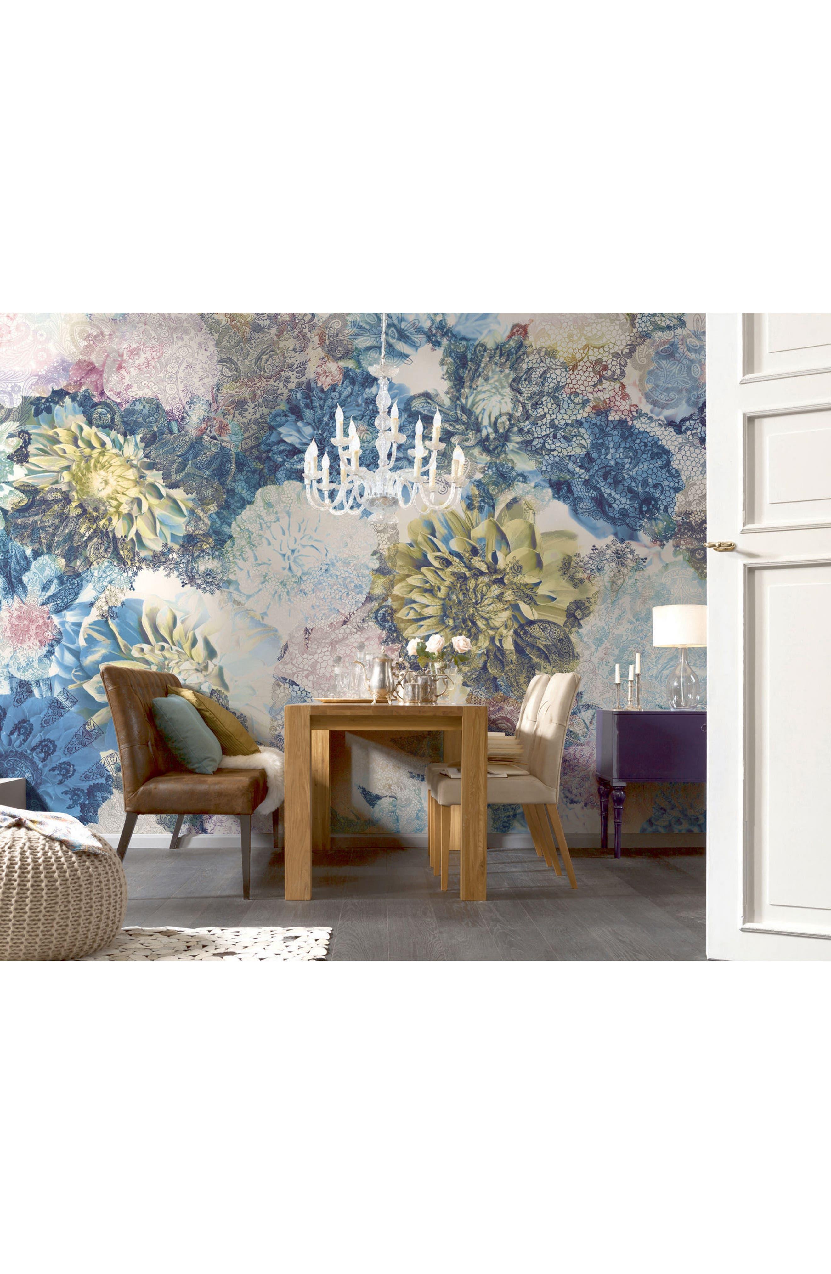 Frisky Flowers Wall Mural,                             Alternate thumbnail 2, color,                             400