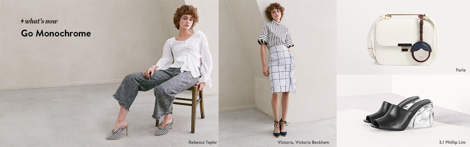 Go monochrome: women's contemporary apparel.