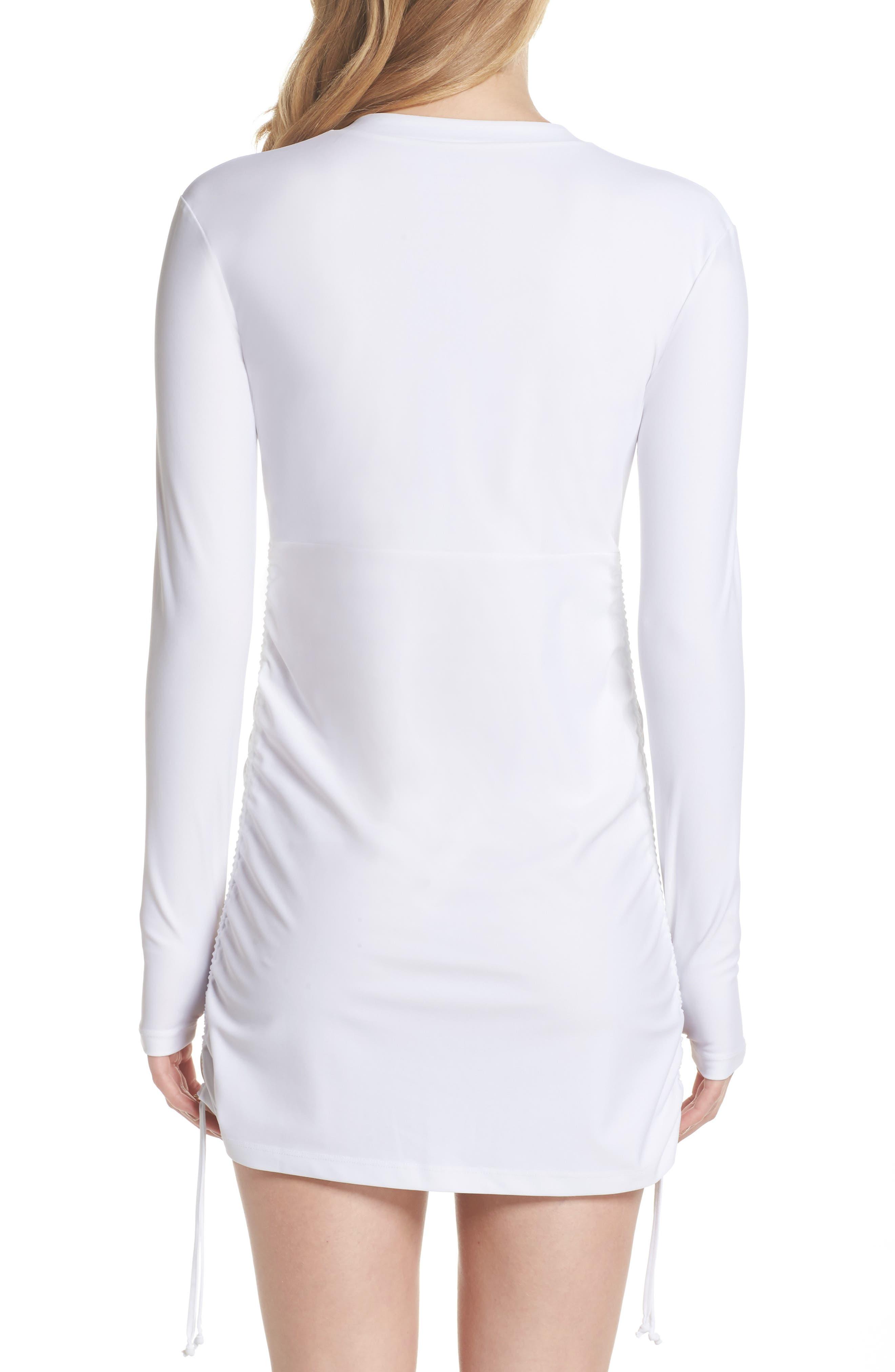 Sonja UPF 50 Cover-Up Swim Dress,                             Alternate thumbnail 2, color,                             WHITE