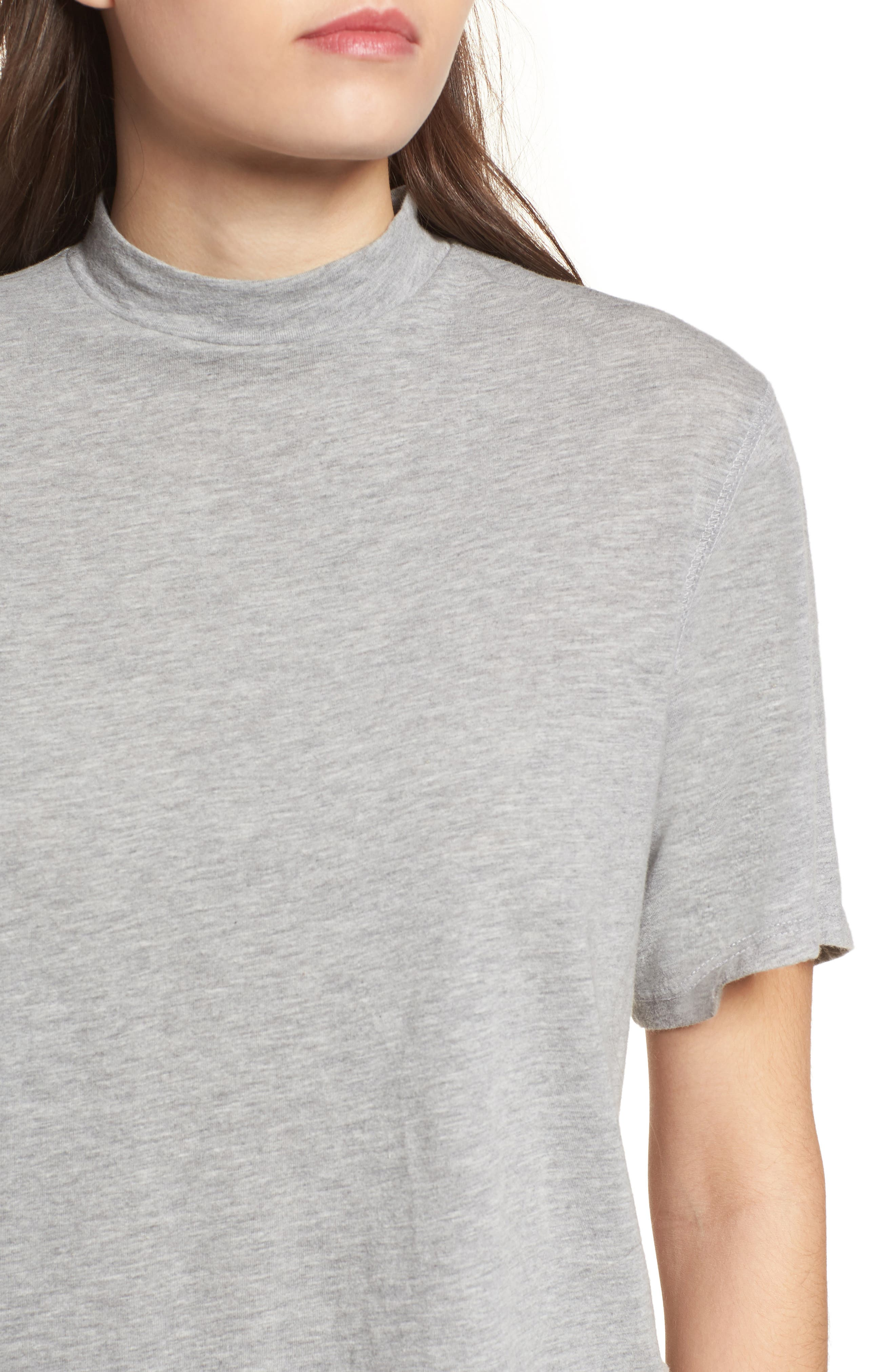 Mock Neck Tee,                             Alternate thumbnail 4, color,
