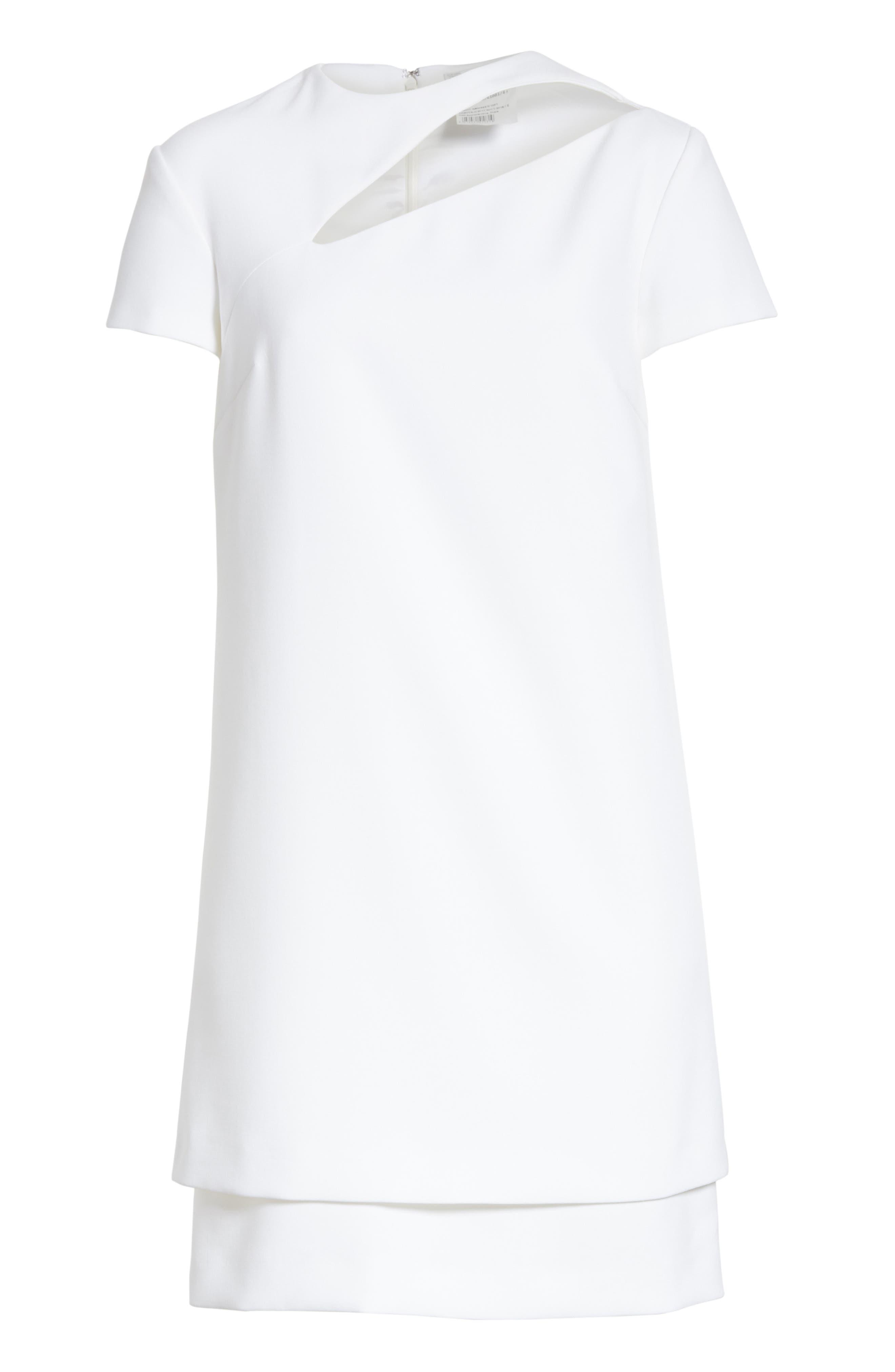 Cutout Stretch Cady Dress,                             Alternate thumbnail 6, color,                             111