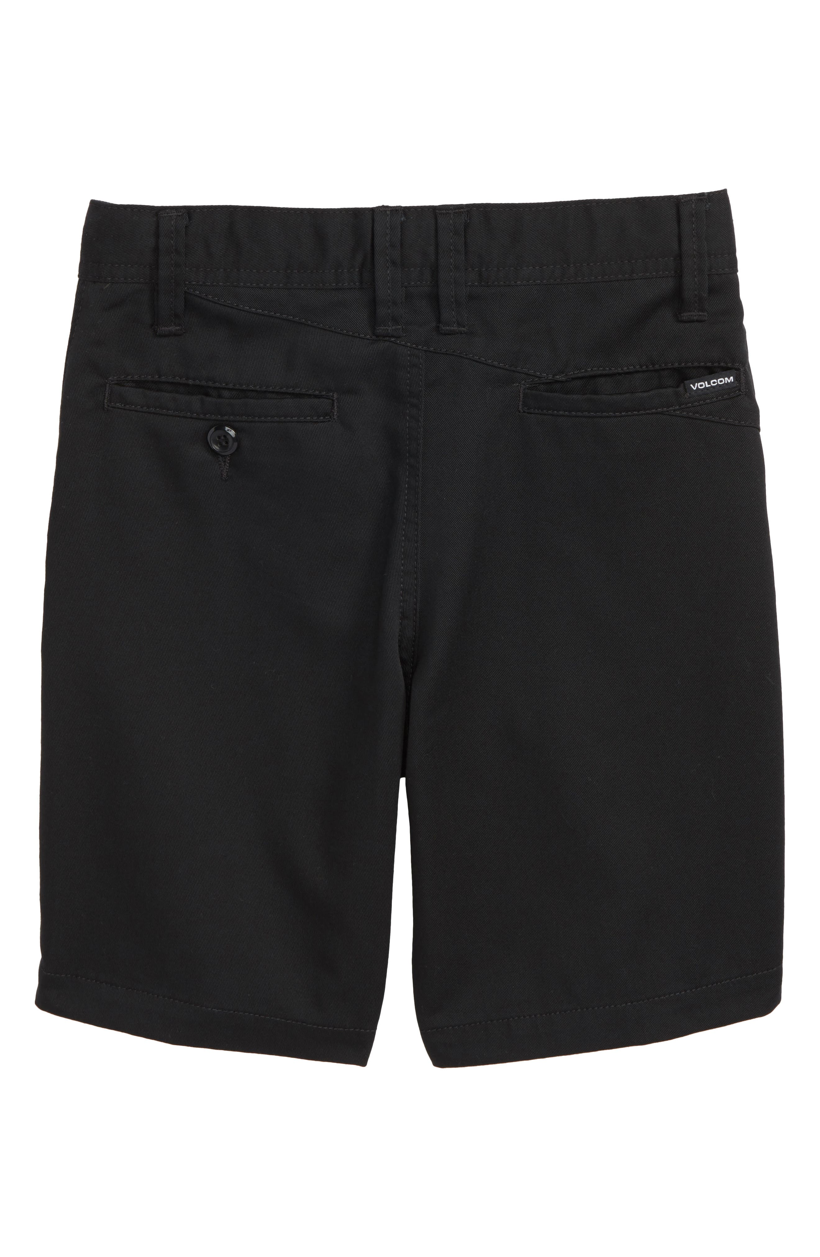 Chino Shorts,                             Alternate thumbnail 2, color,                             BLACK