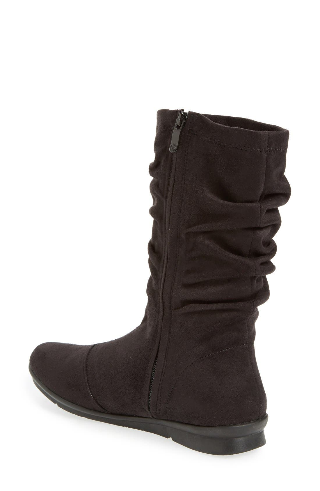 BUSSOLA,                             Concord Ruched Boot,                             Alternate thumbnail 2, color,                             001