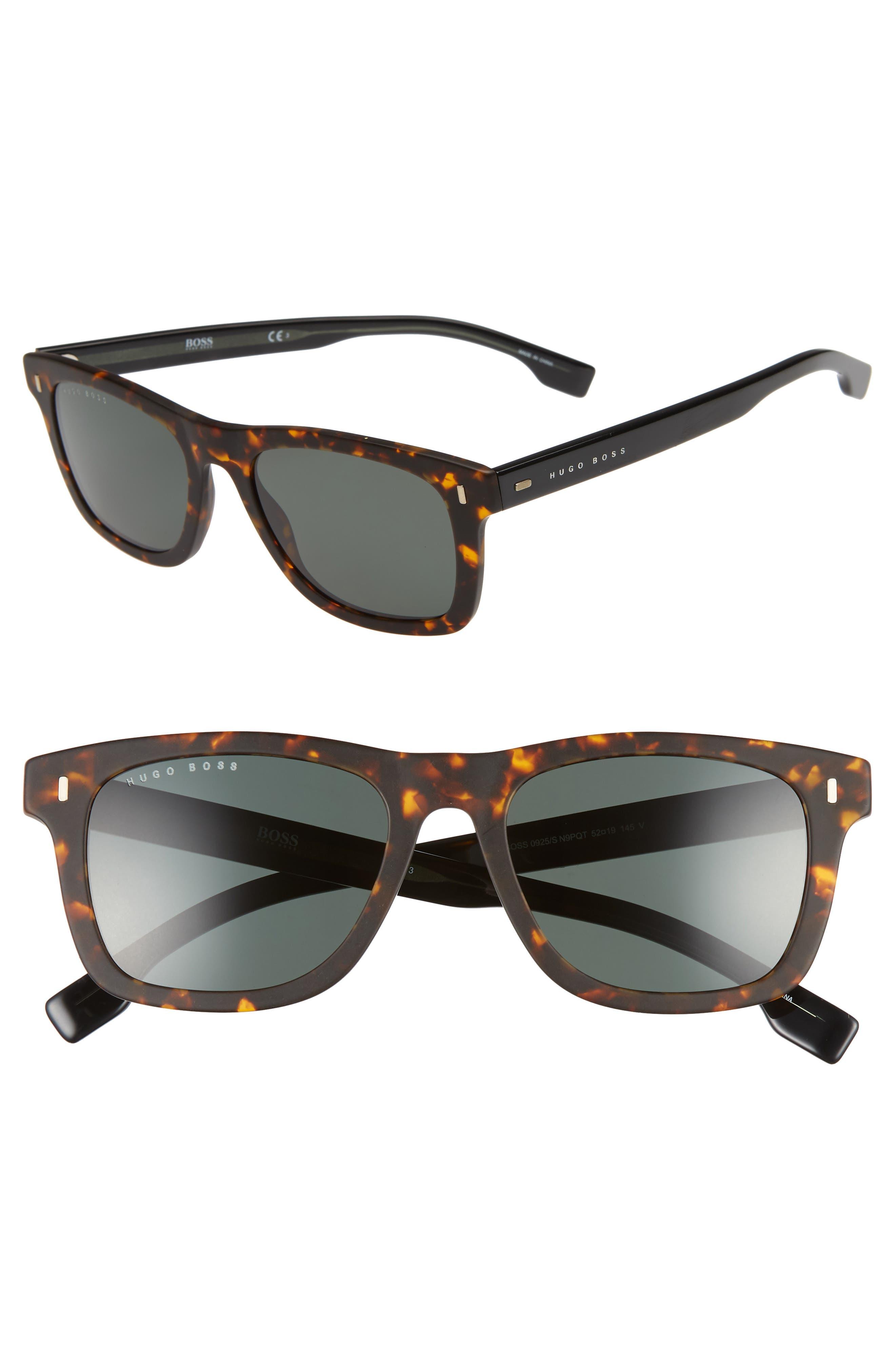 52mm Sunglasses,                             Main thumbnail 1, color,                             MATTE HAVANA