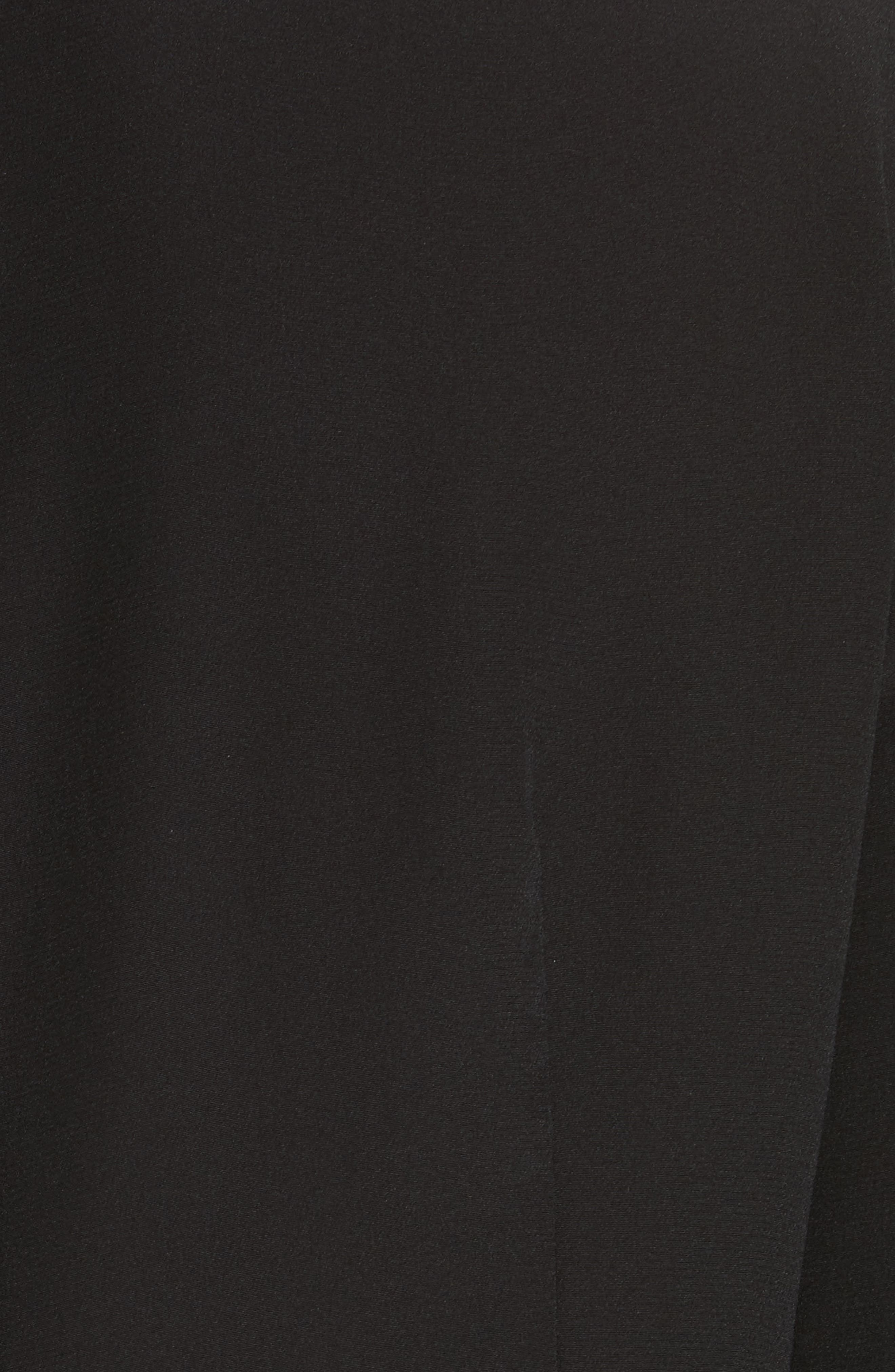 Pleated Ruffle Silk Blouse,                             Alternate thumbnail 5, color,                             001