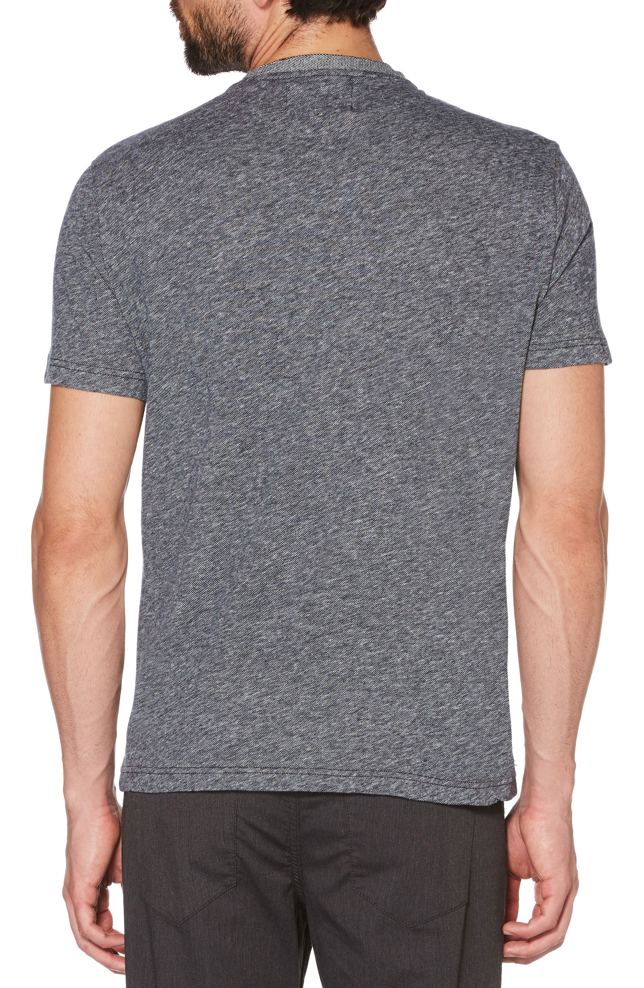 Crewneck T-Shirt,                             Alternate thumbnail 2, color,                             DARK SAPPHIRE