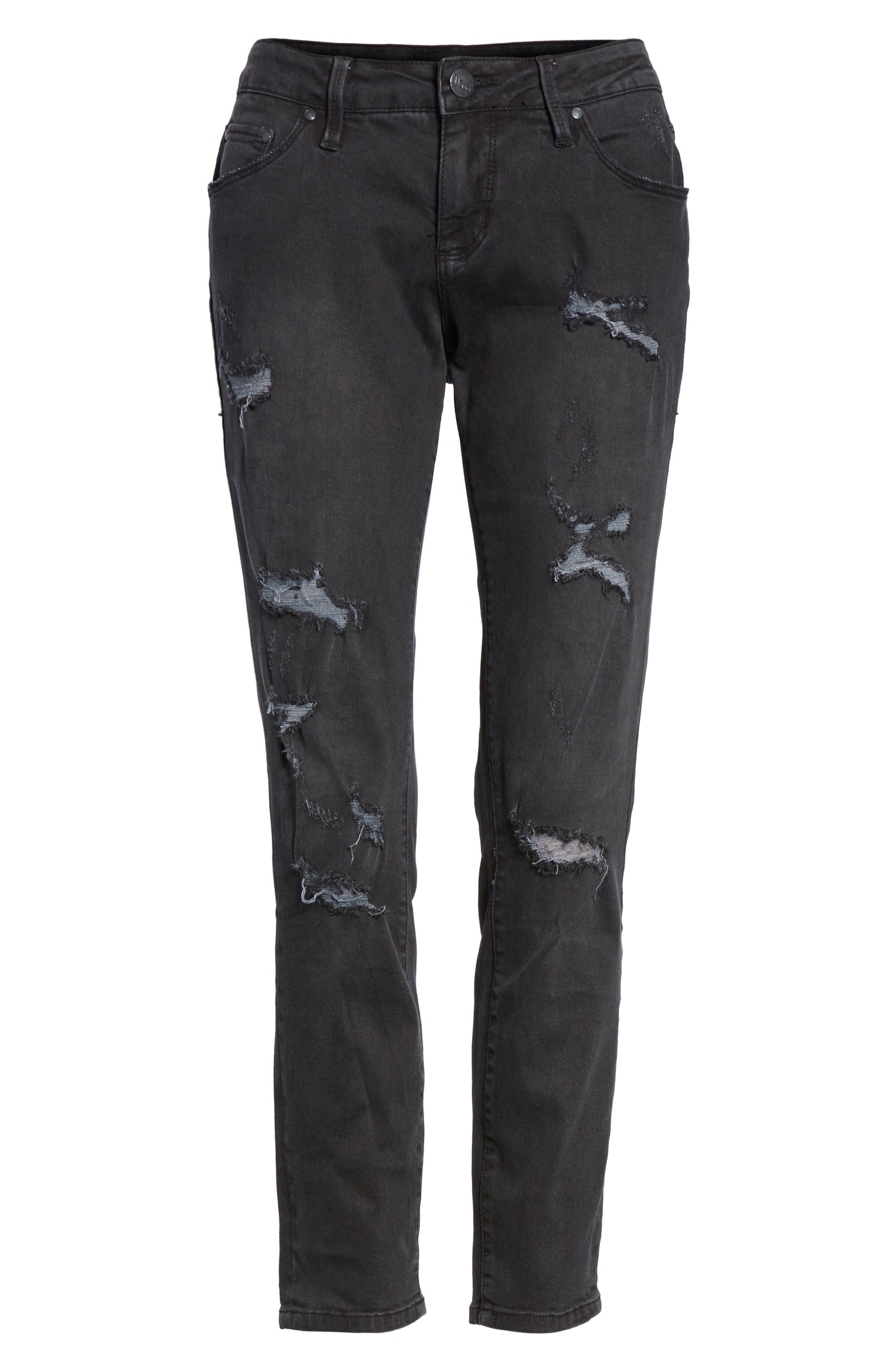 Mera Distressed Skinny Ankle Jeans,                             Alternate thumbnail 6, color,