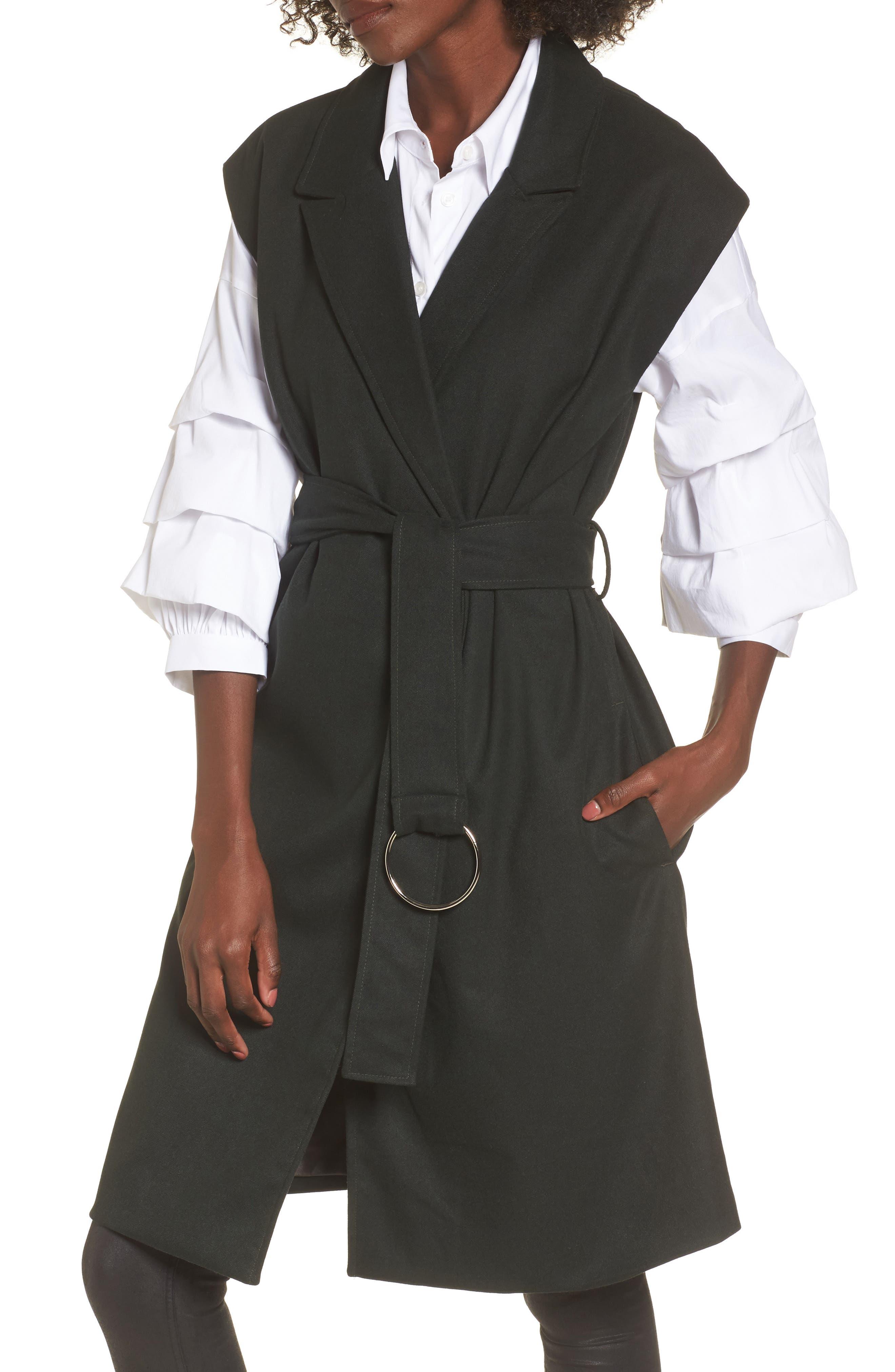 Belted Longline Vest,                             Main thumbnail 1, color,                             301