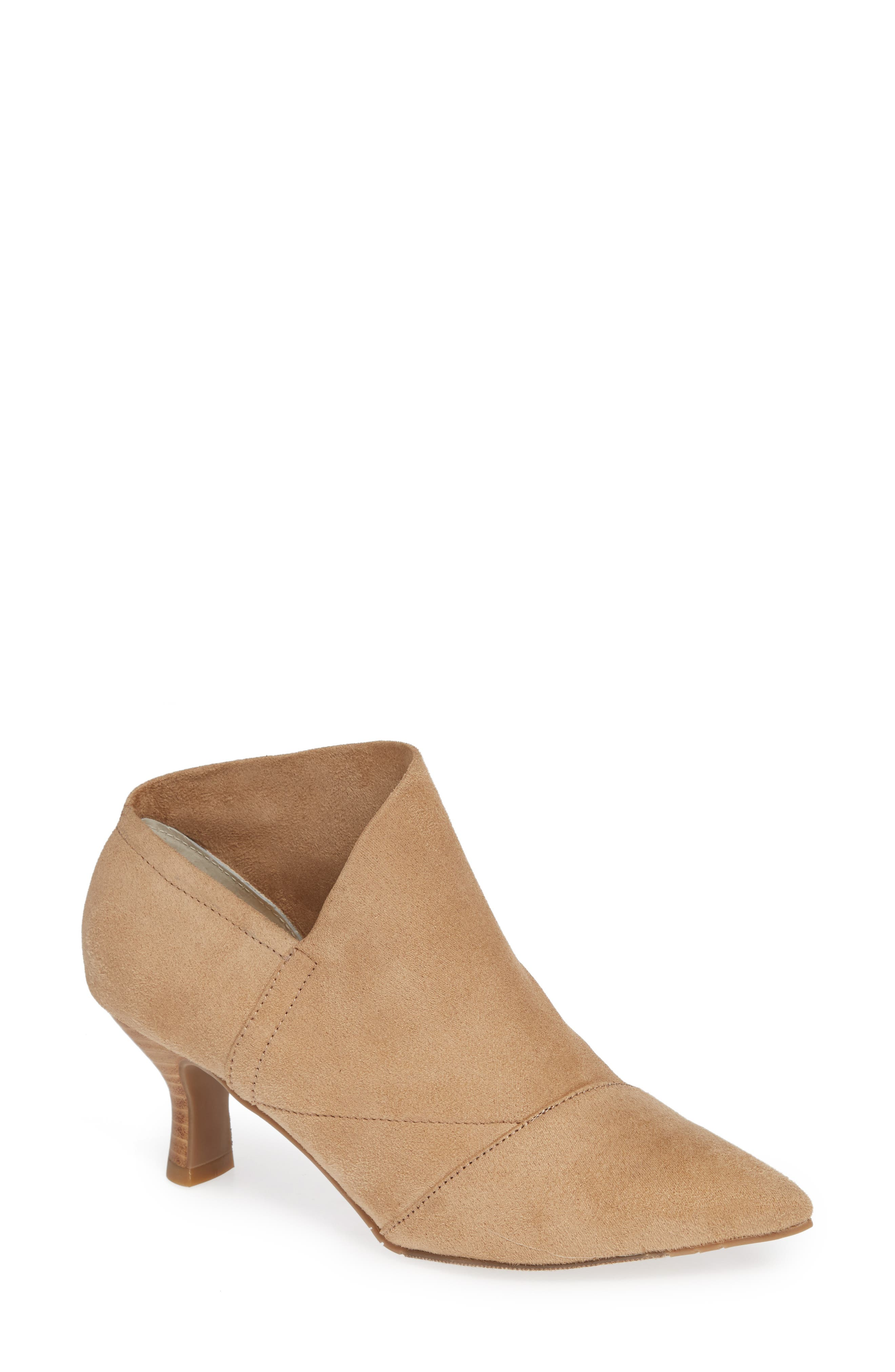 Hayes Pointy Toe Bootie,                             Main thumbnail 1, color,                             OAT SUEDE