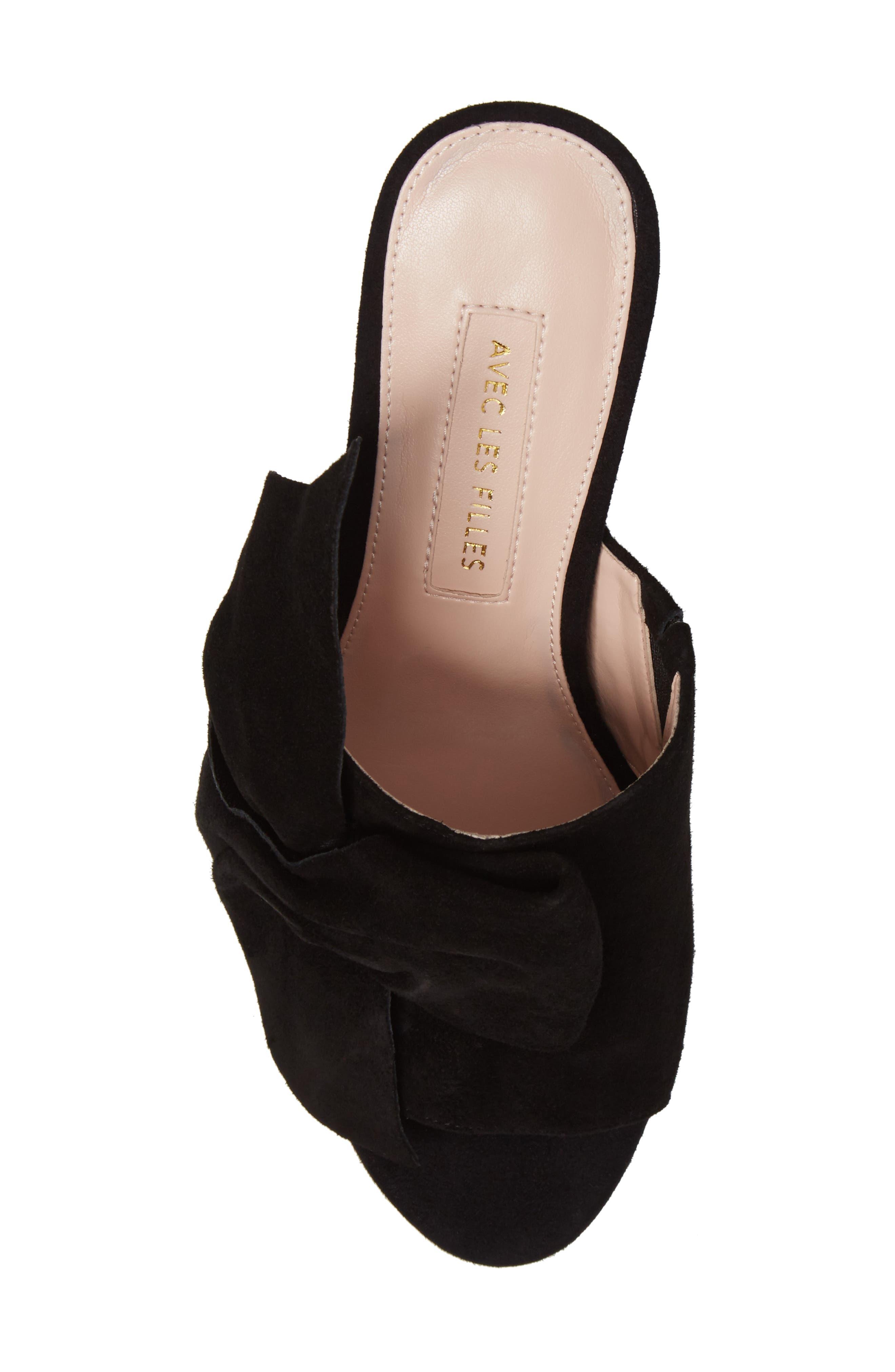 Marie Bow Slide Sandal,                             Alternate thumbnail 5, color,                             002