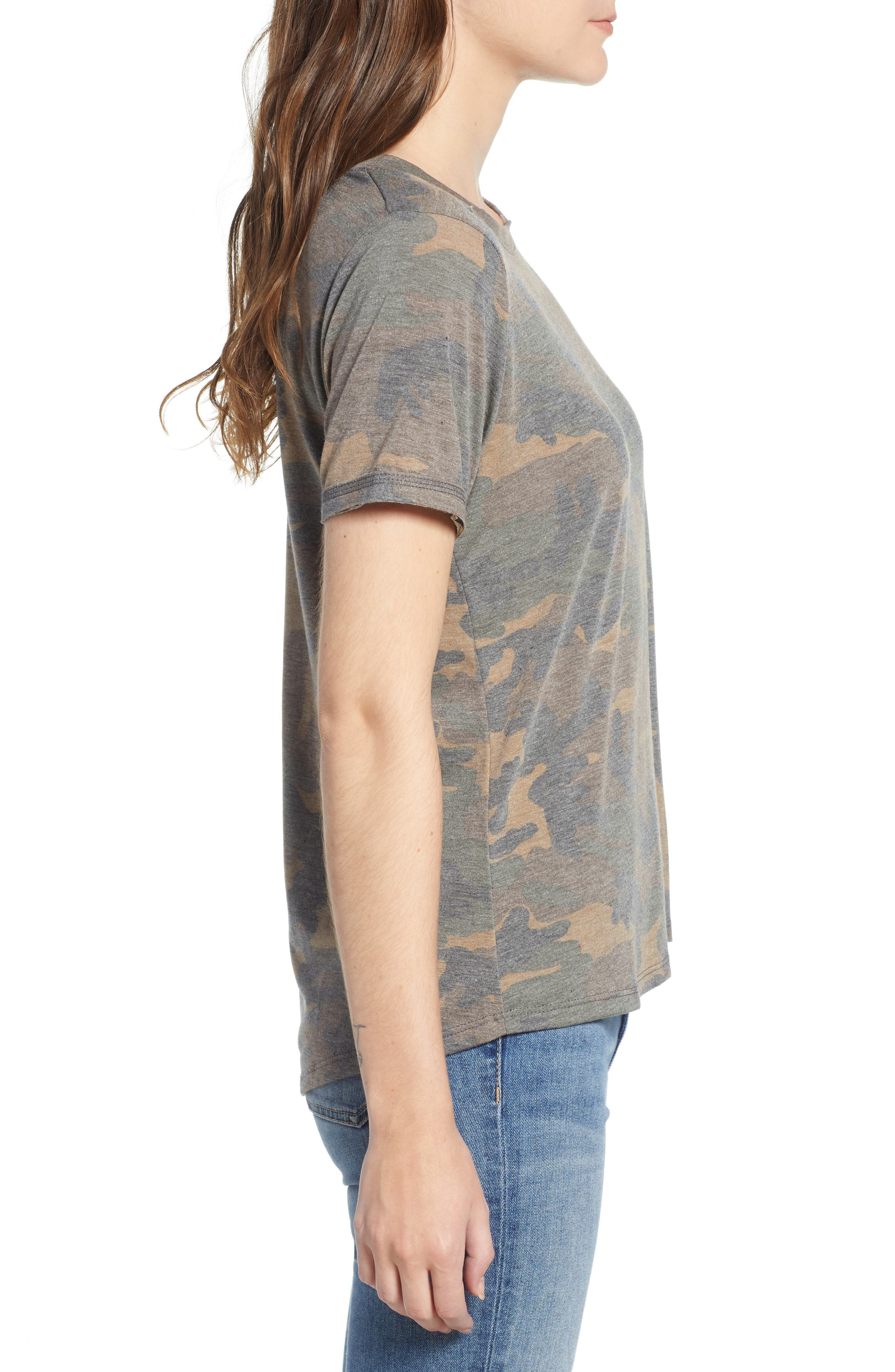 Distressed Camo Tee,                             Alternate thumbnail 3, color,                             304