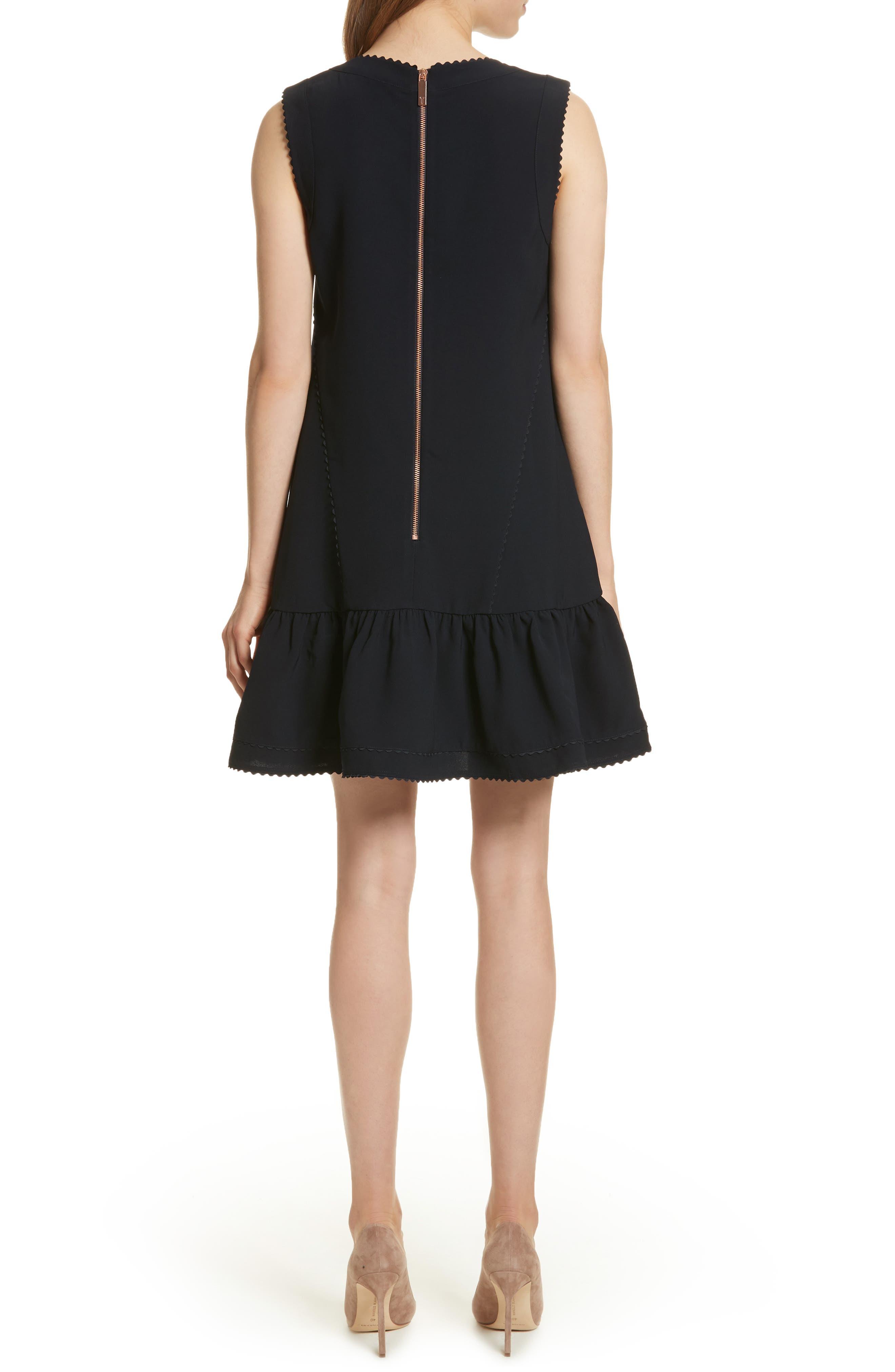 Ruffle Hem A-Line Dress,                             Alternate thumbnail 2, color,                             402