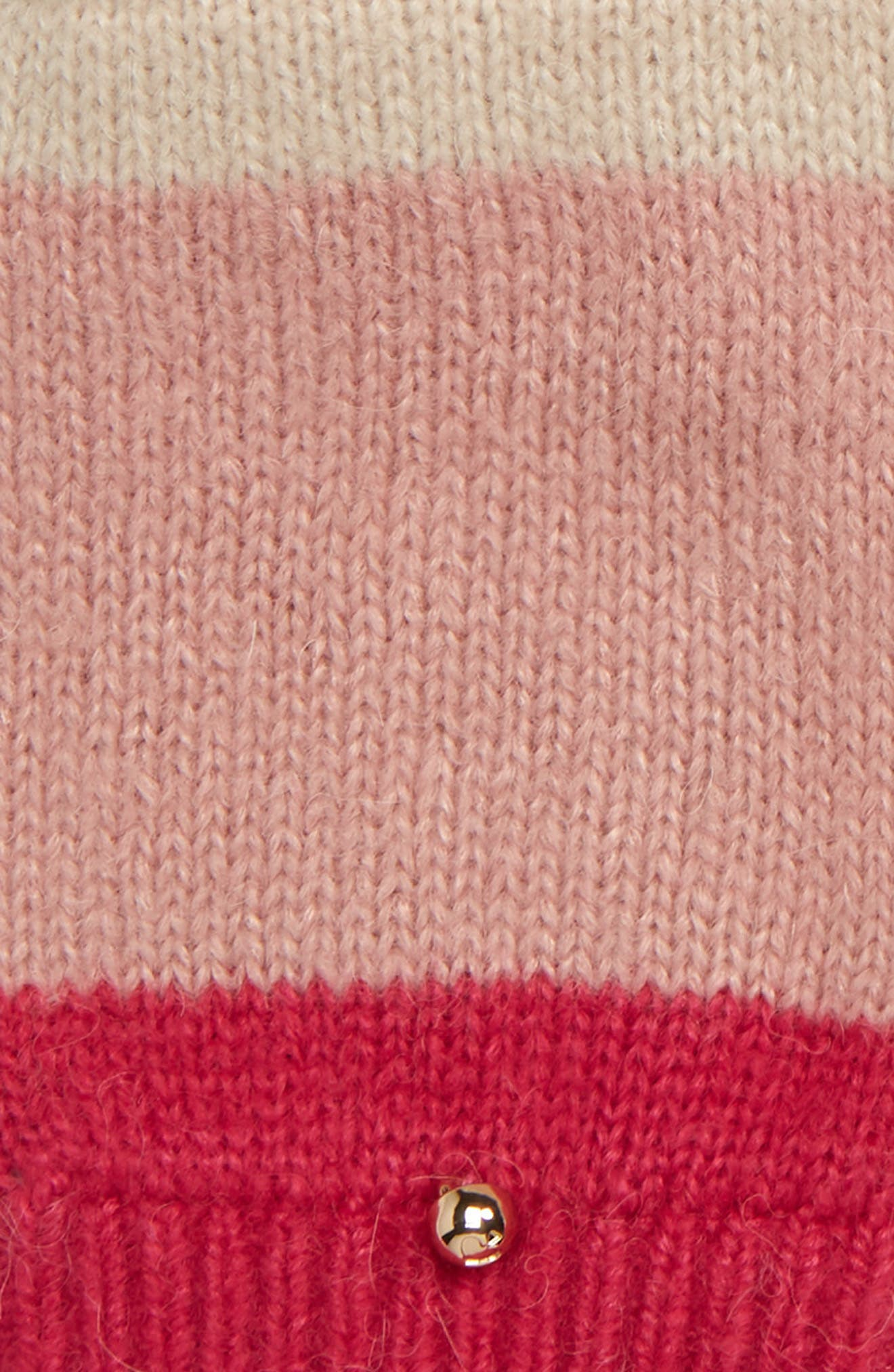 brushed knit colorblock convertible mittens,                             Alternate thumbnail 3, color,                             CREAM/ OATMEAL/ PEONY/ BEGONIA
