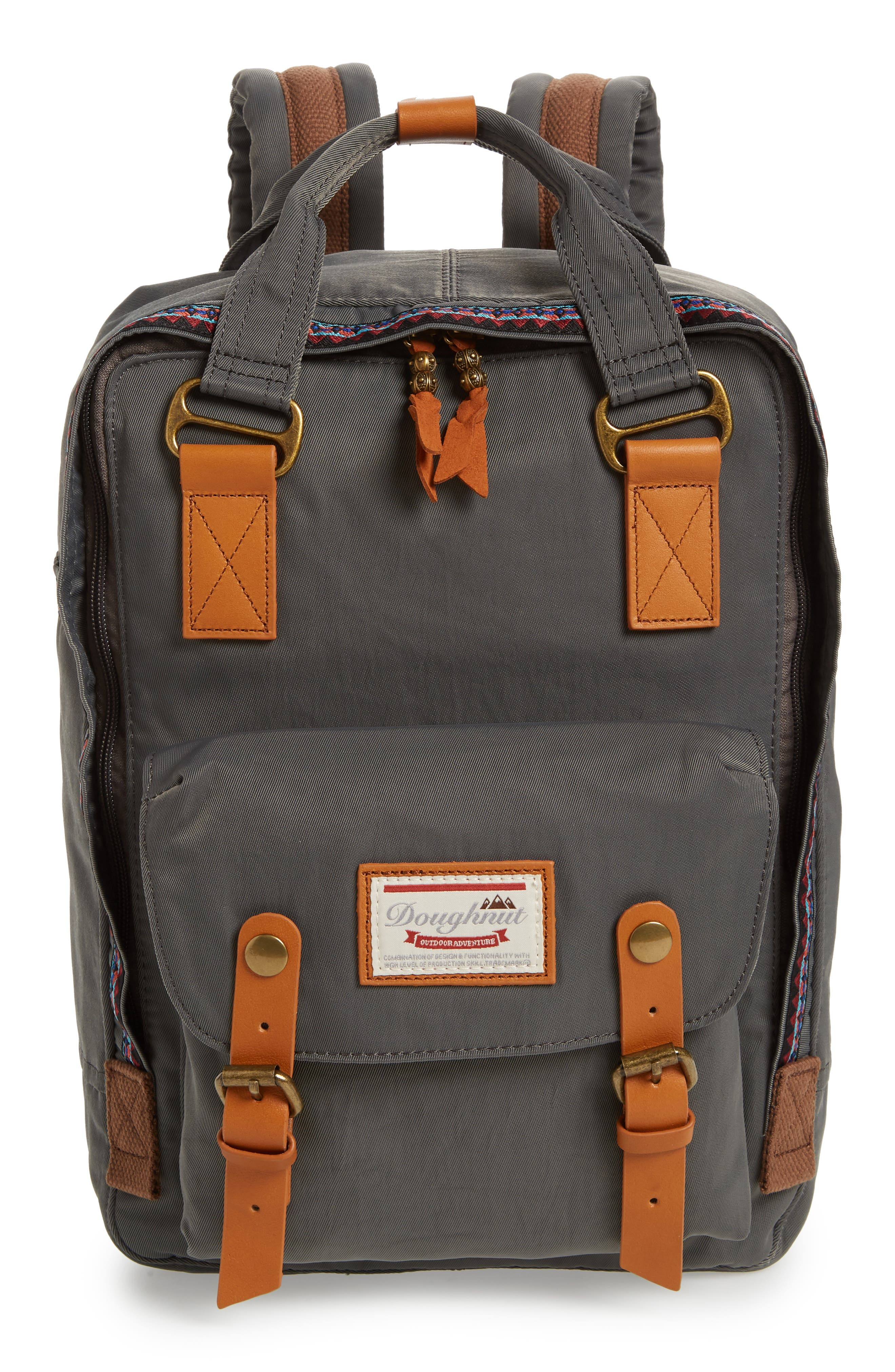Macaroon Bo-He Water Resistant Backpack,                         Main,                         color, CHARCOAL