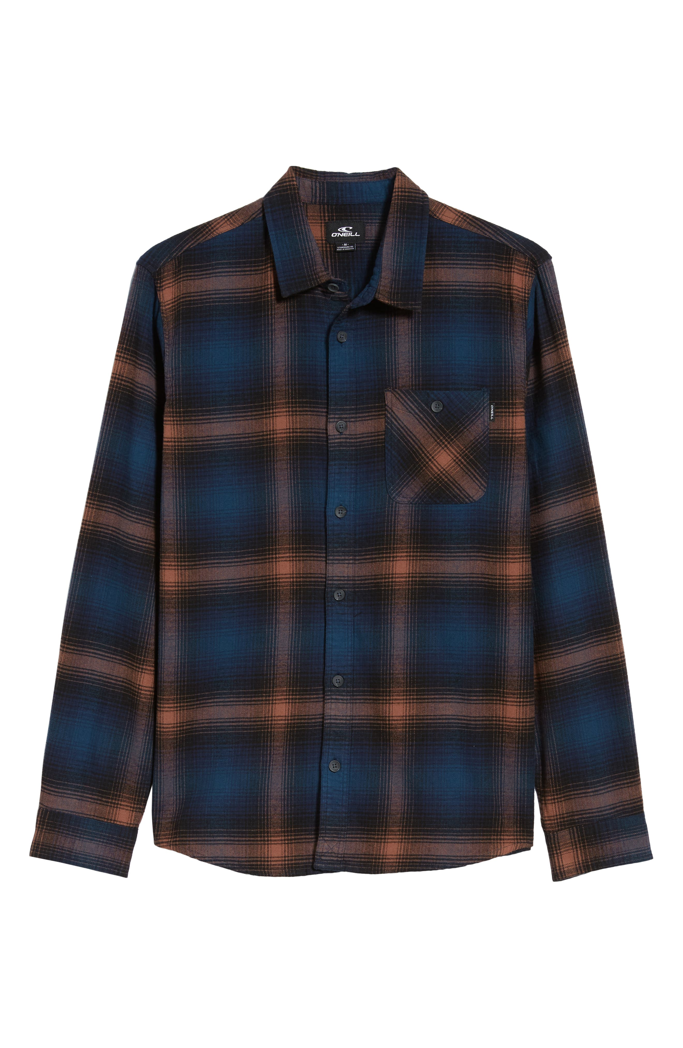 Dillishaw Flannel Shirt,                             Alternate thumbnail 5, color,                             NAVY