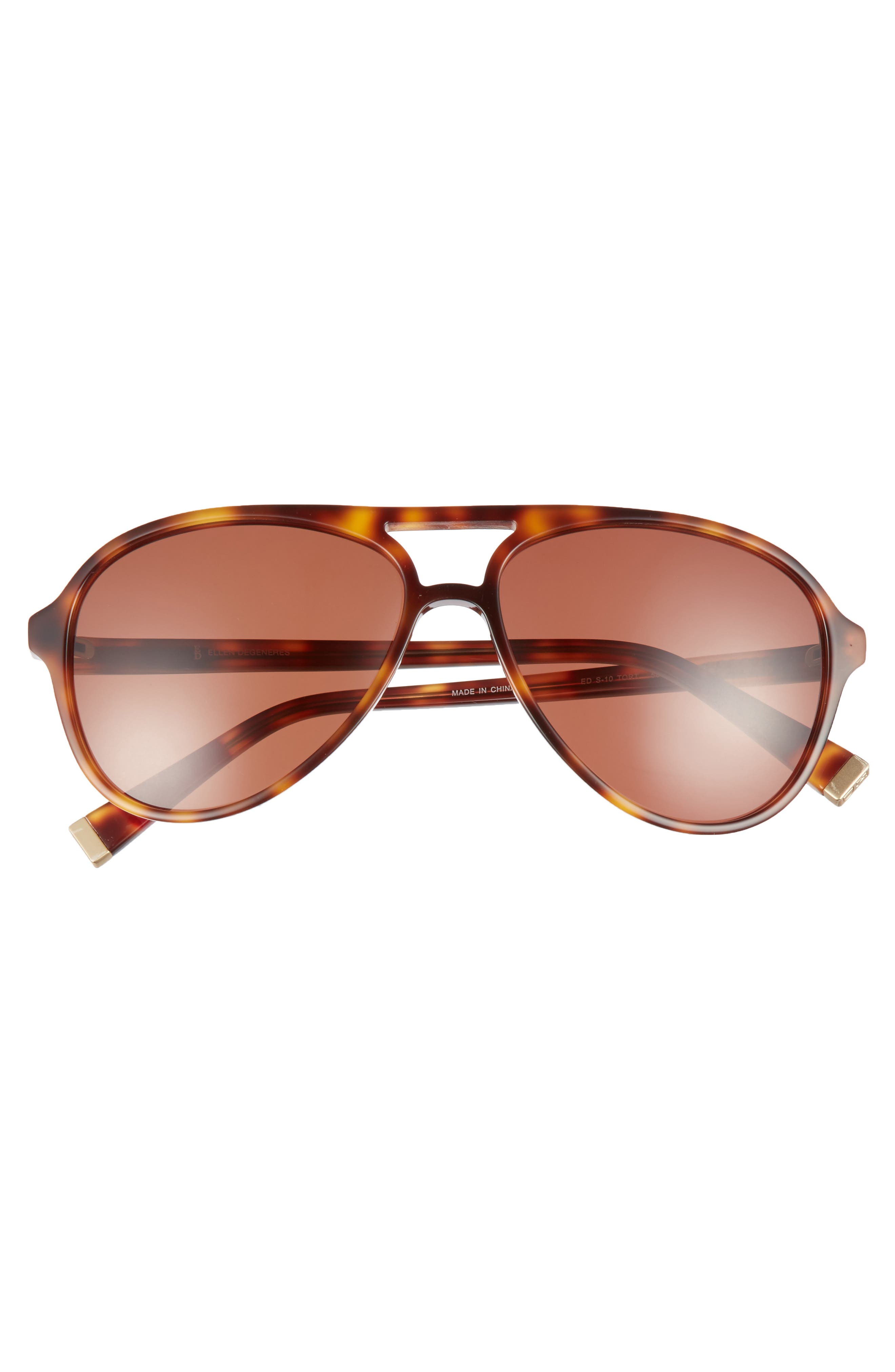 58mm Gradient Aviator Sunglasses,                             Alternate thumbnail 3, color,                             TORTOISE