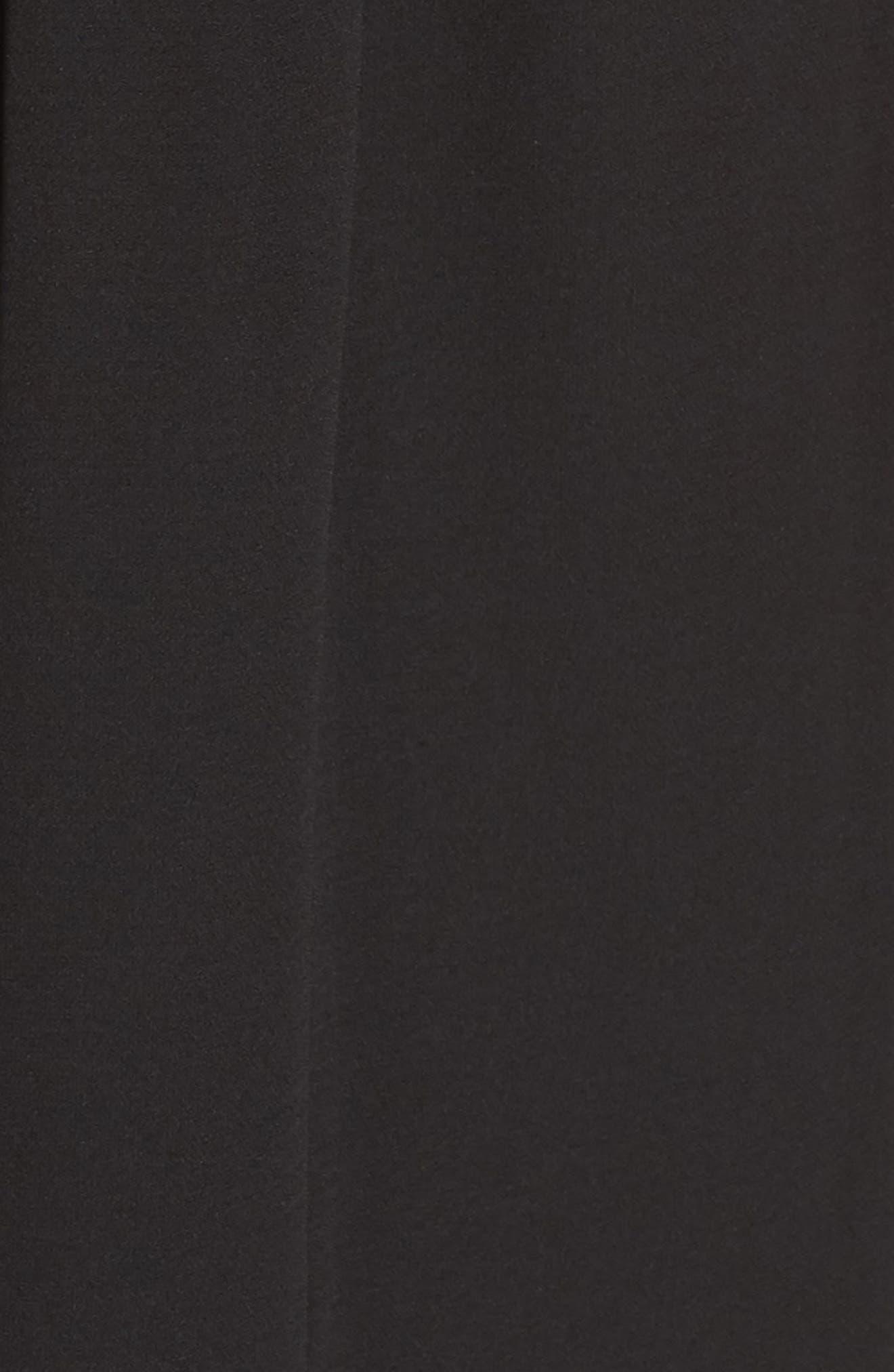 Ruffle Midi Dress,                             Alternate thumbnail 6, color,                             001