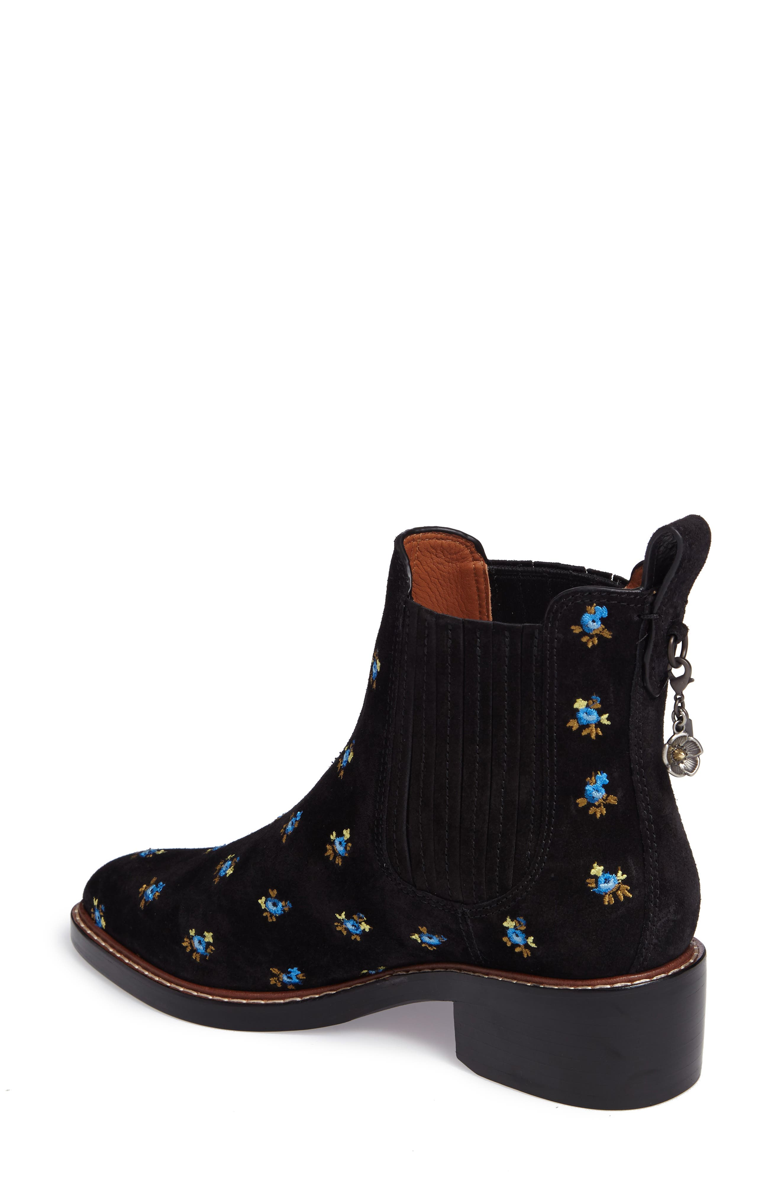 Bowery Embroidered Chelsea Bootie,                             Alternate thumbnail 4, color,
