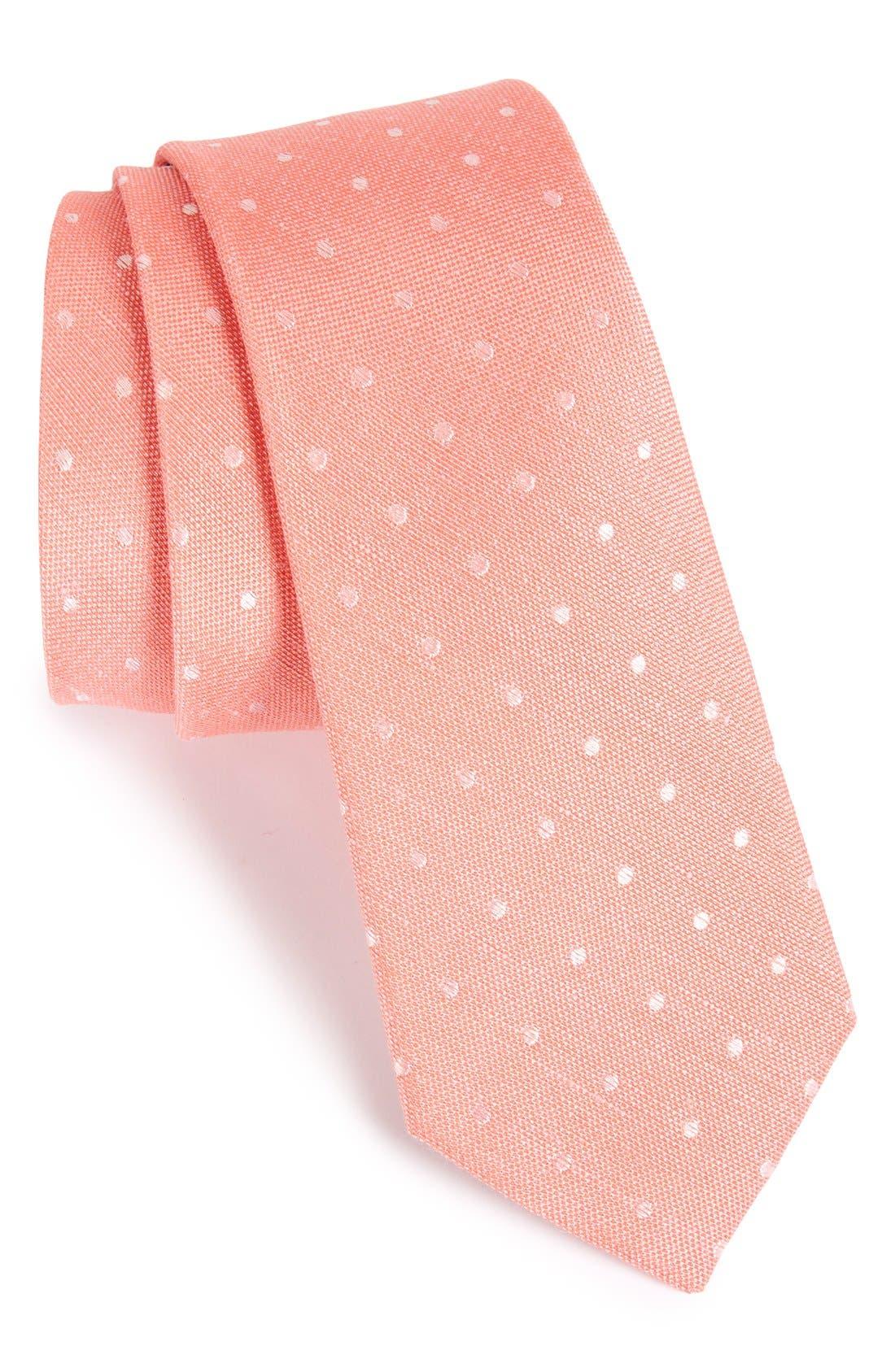 Dot Silk & Linen Tie,                             Main thumbnail 5, color,