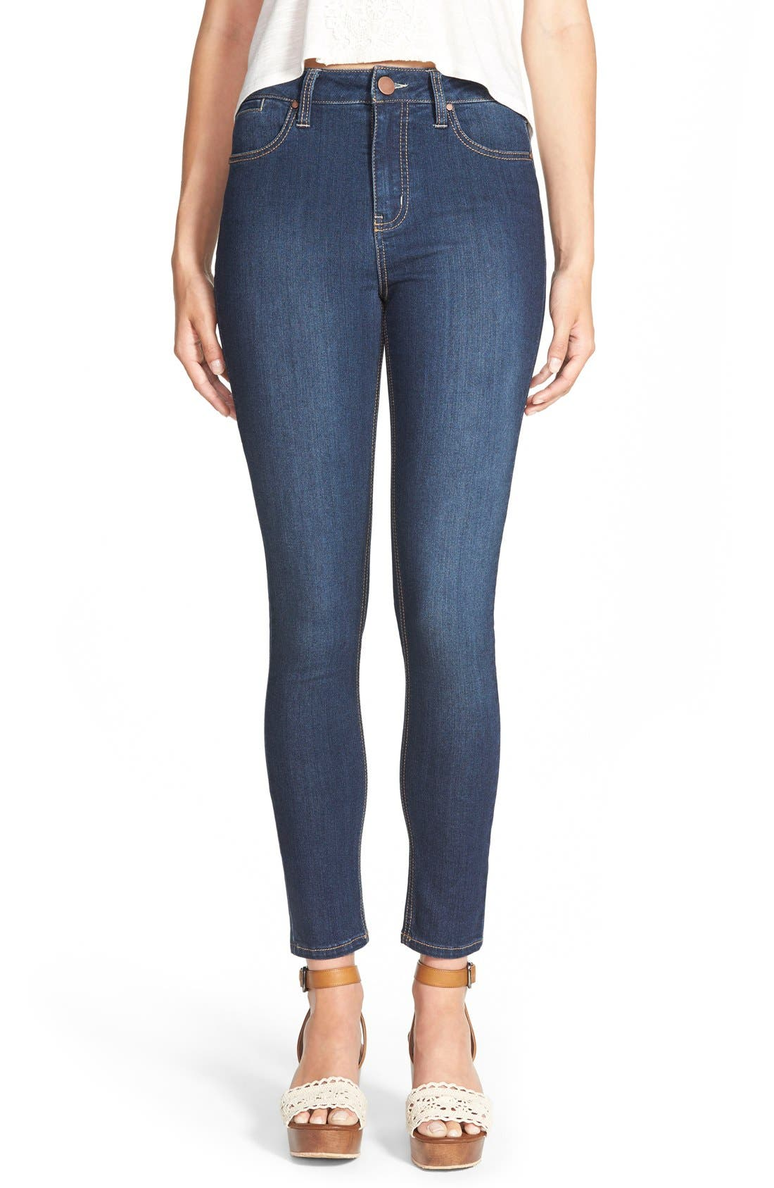 LOVE, FIRE Fire Skinny Jeans, Main, color, 400