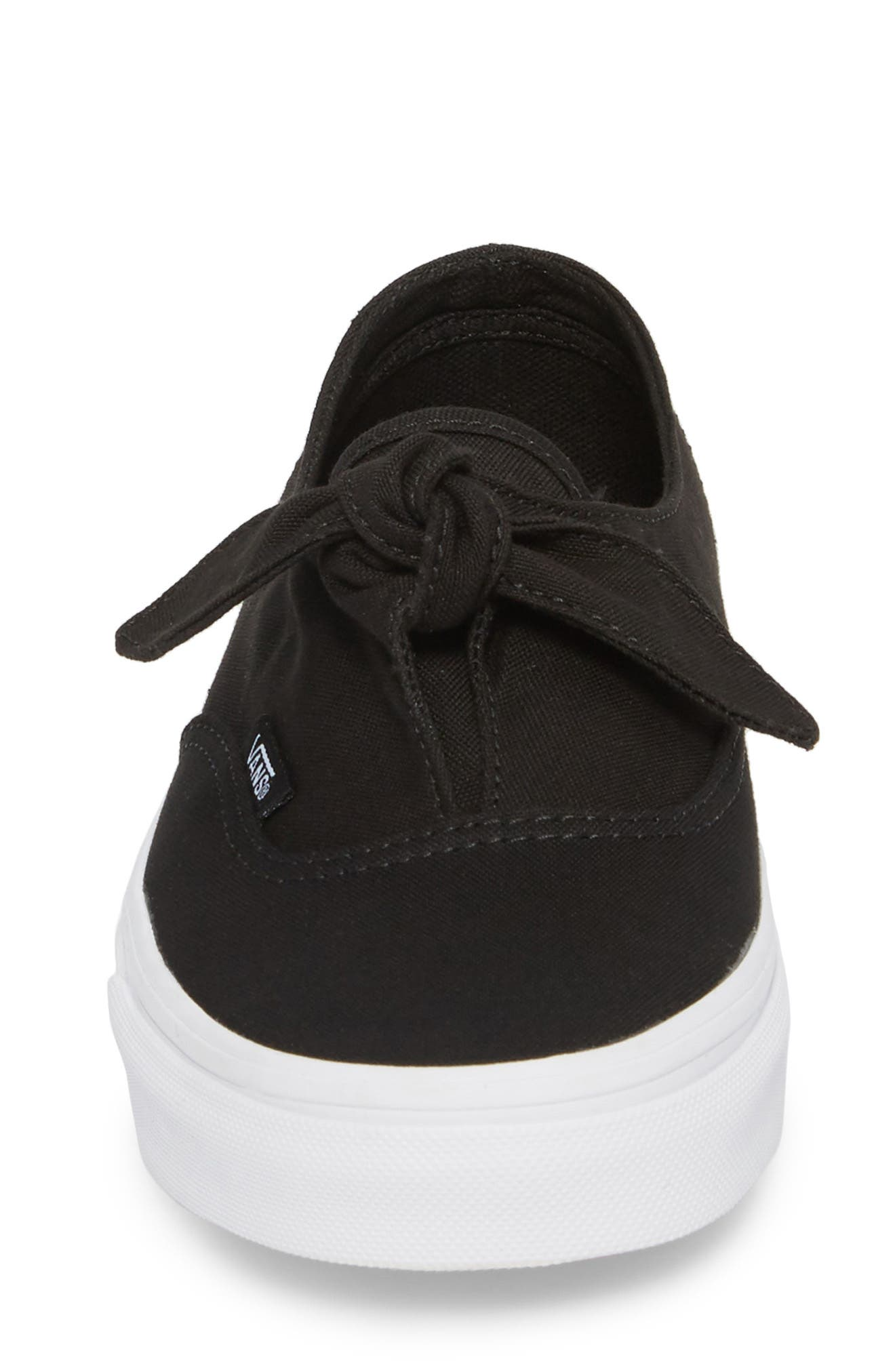 UA Authentic Knotted Slip-On Sneaker,                             Alternate thumbnail 4, color,                             001