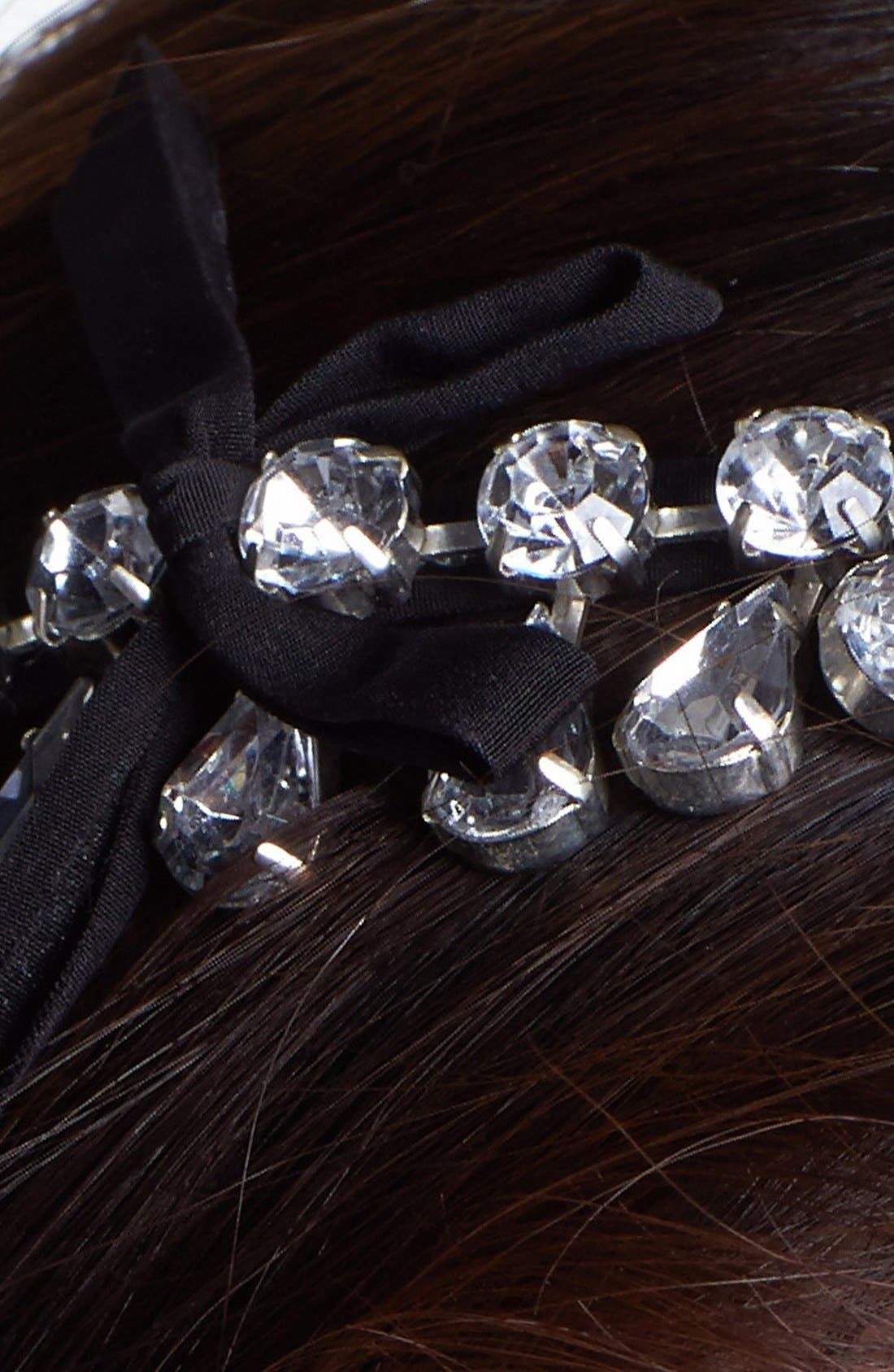 Teardrop Tiara Headband,                             Alternate thumbnail 2, color,                             001