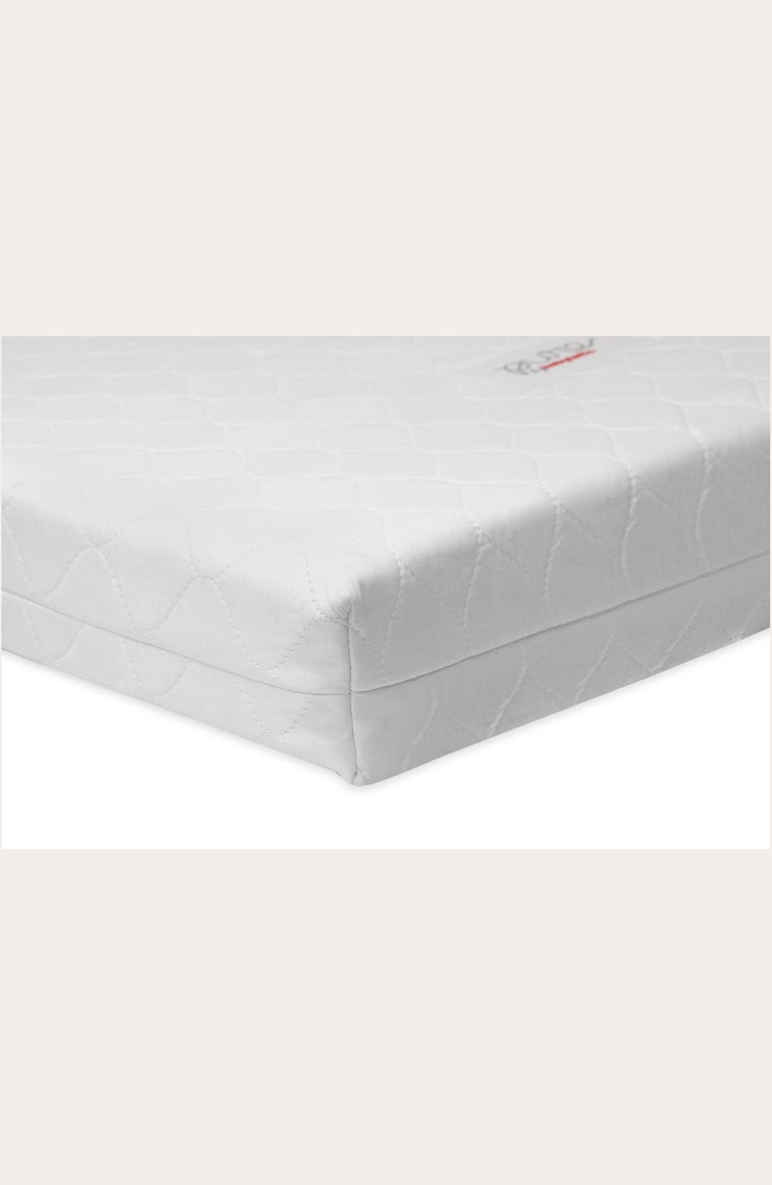 Pure Core Nontoxic Mini Crib Mattress & Hybrid Cover,                             Alternate thumbnail 2, color,                             WHITE
