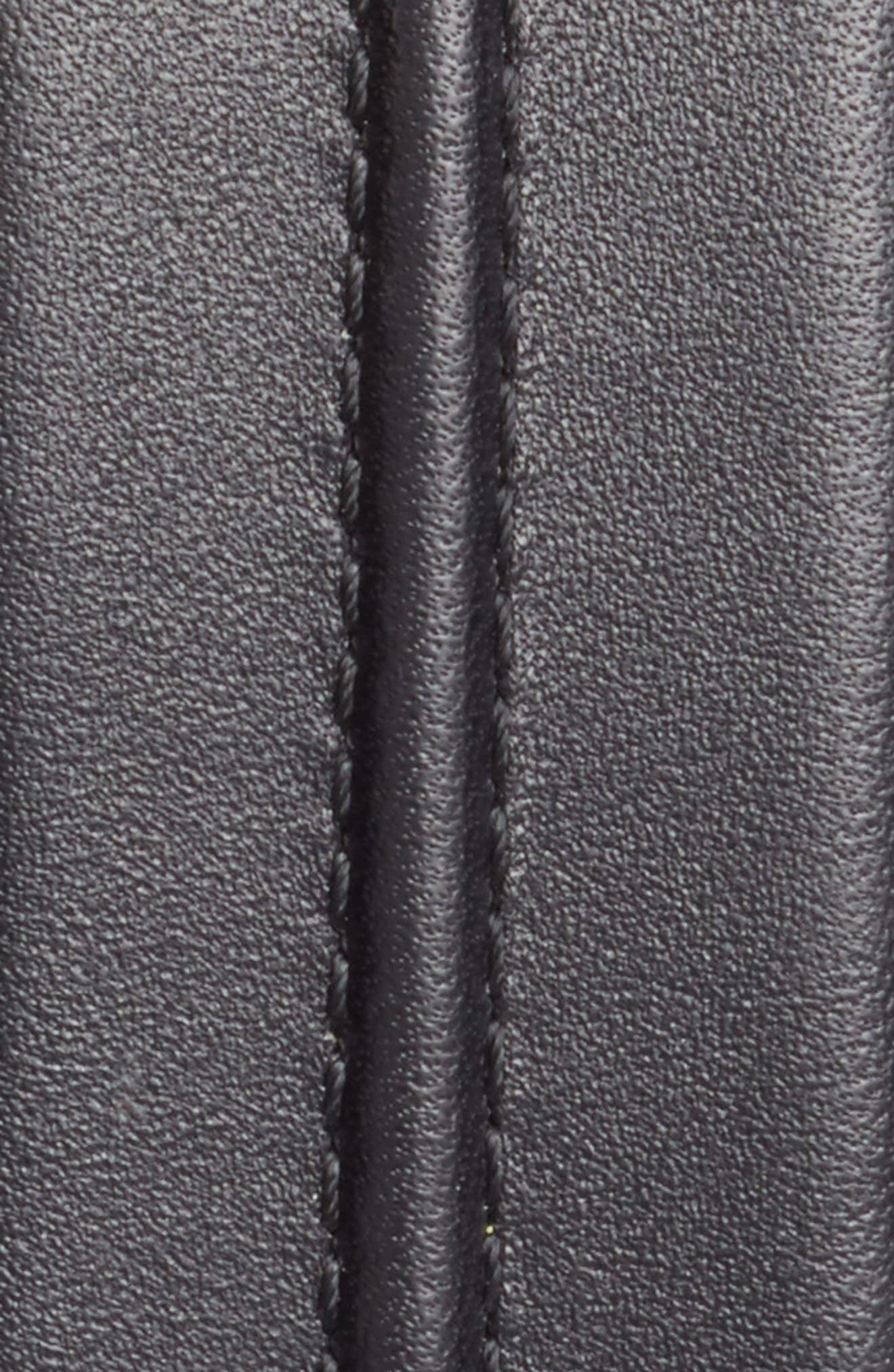 Pinched Seam Leather Belt,                             Alternate thumbnail 2, color,                             001