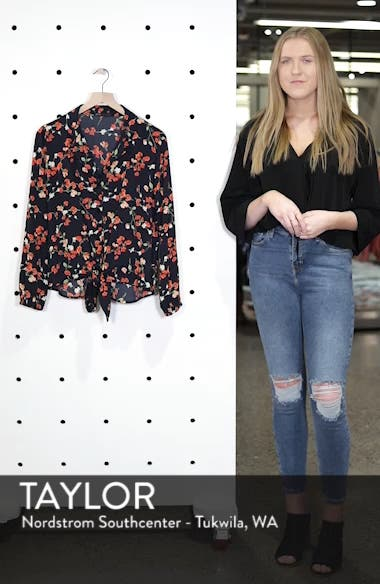 Relaxed Tie Front Top, sales video thumbnail