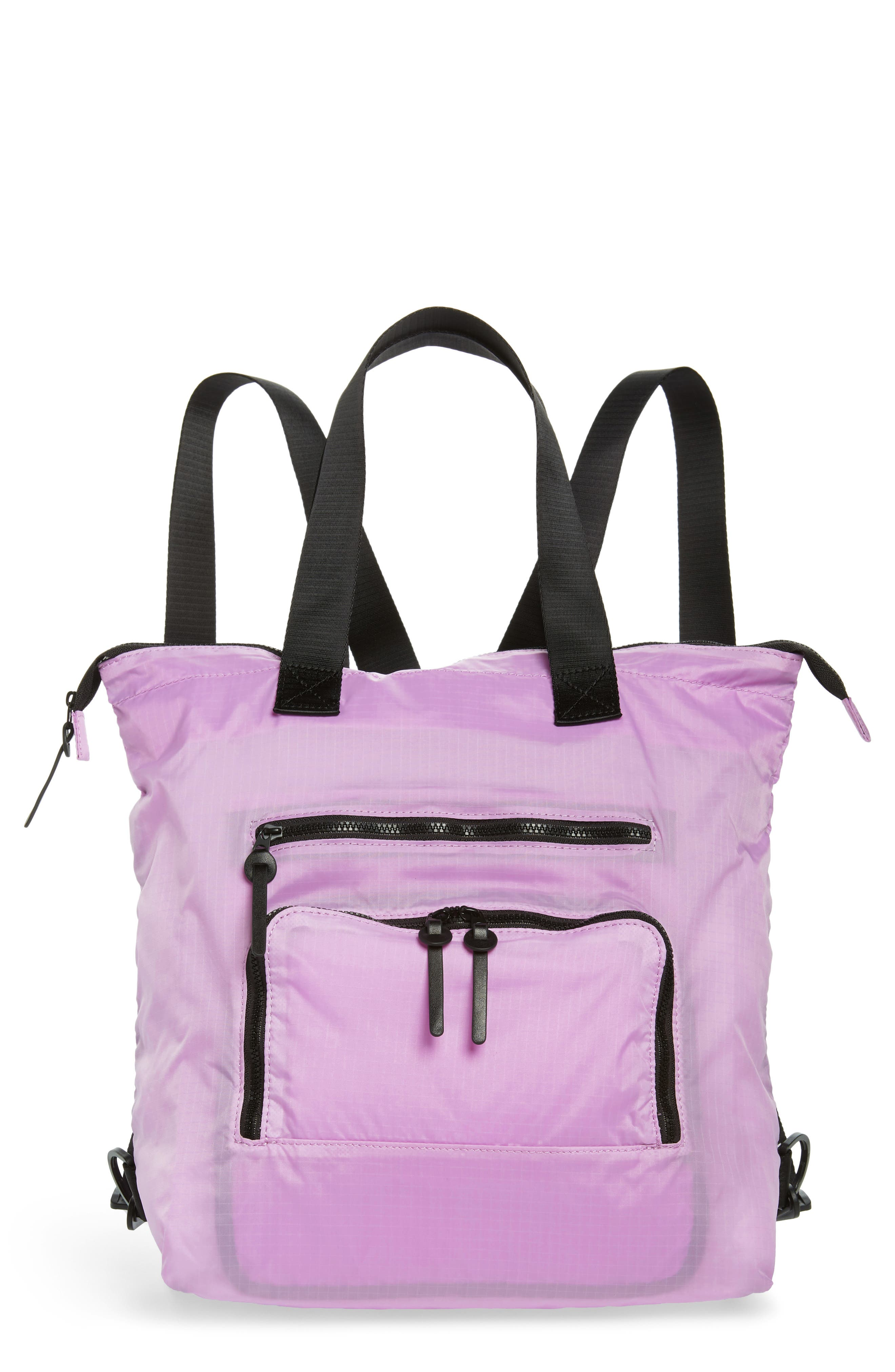 Packable Convertible Backpack,                             Main thumbnail 1, color,                             LAVENDER SWEET