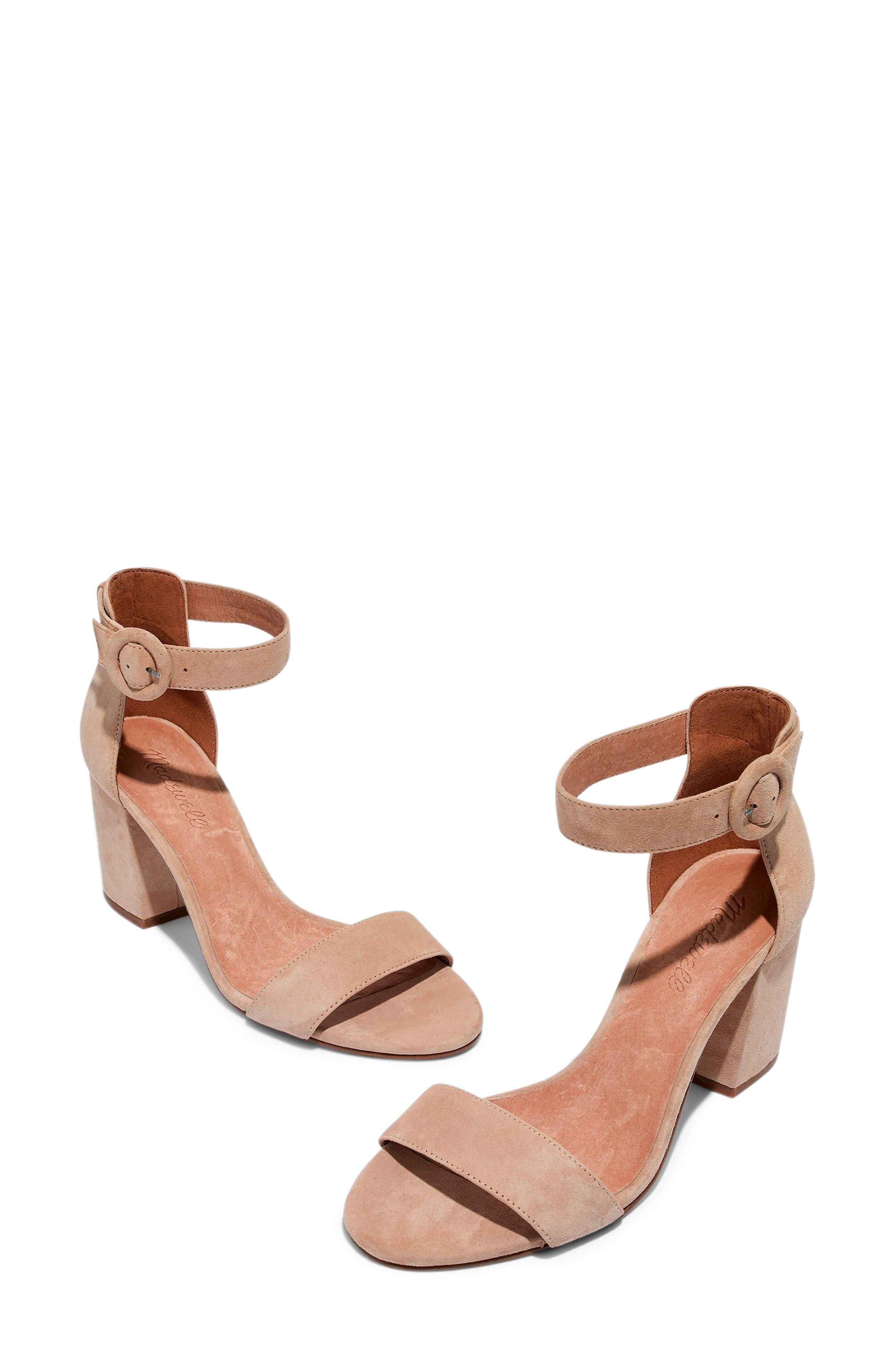 The Regina Ankle Strap Sandal,                             Alternate thumbnail 8, color,                             SAND DUNE SUEDE