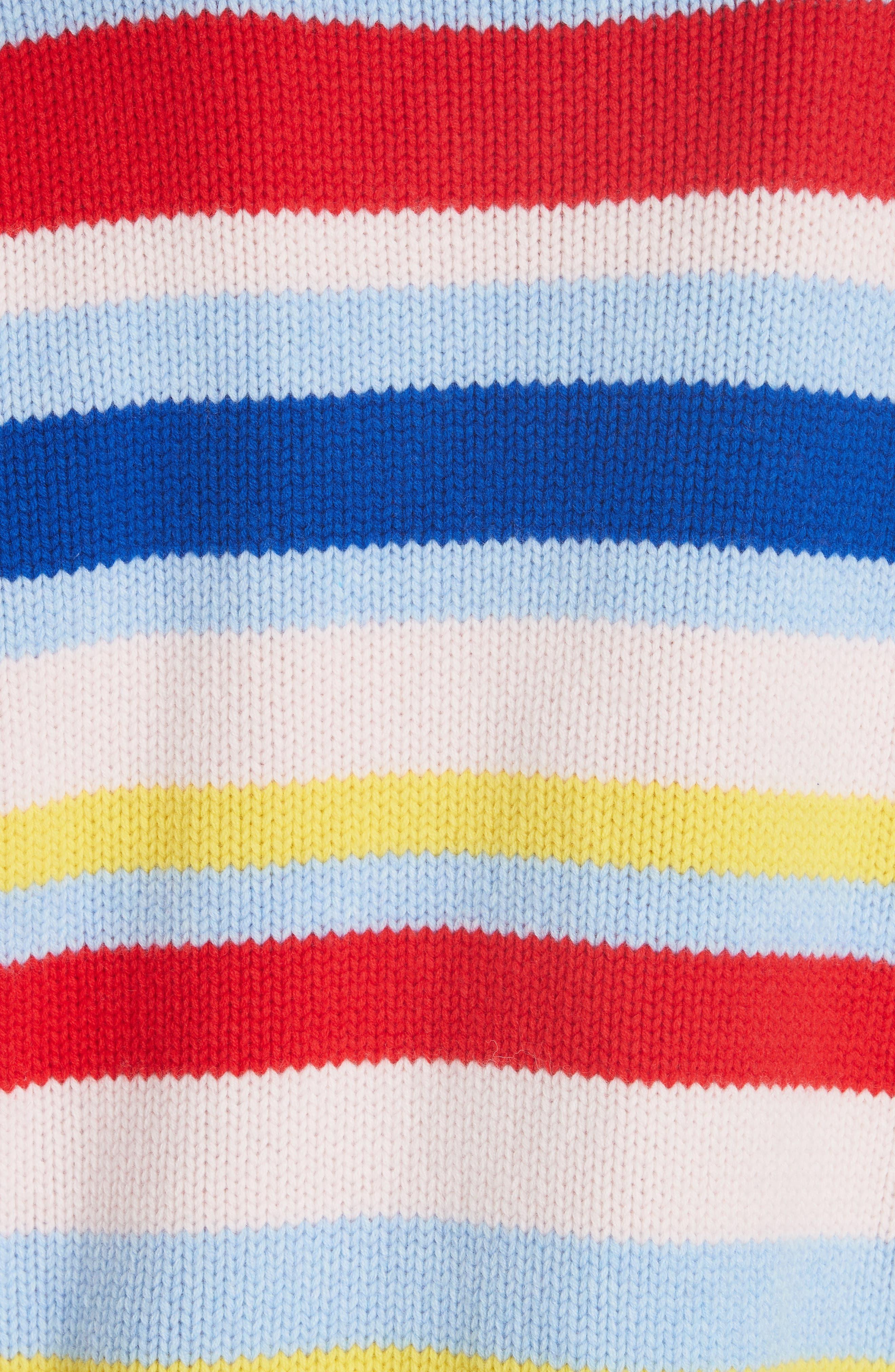 LA LIGNE,                             Happy Marin Sweater,                             Alternate thumbnail 5, color,                             RAINBOW STRIPE