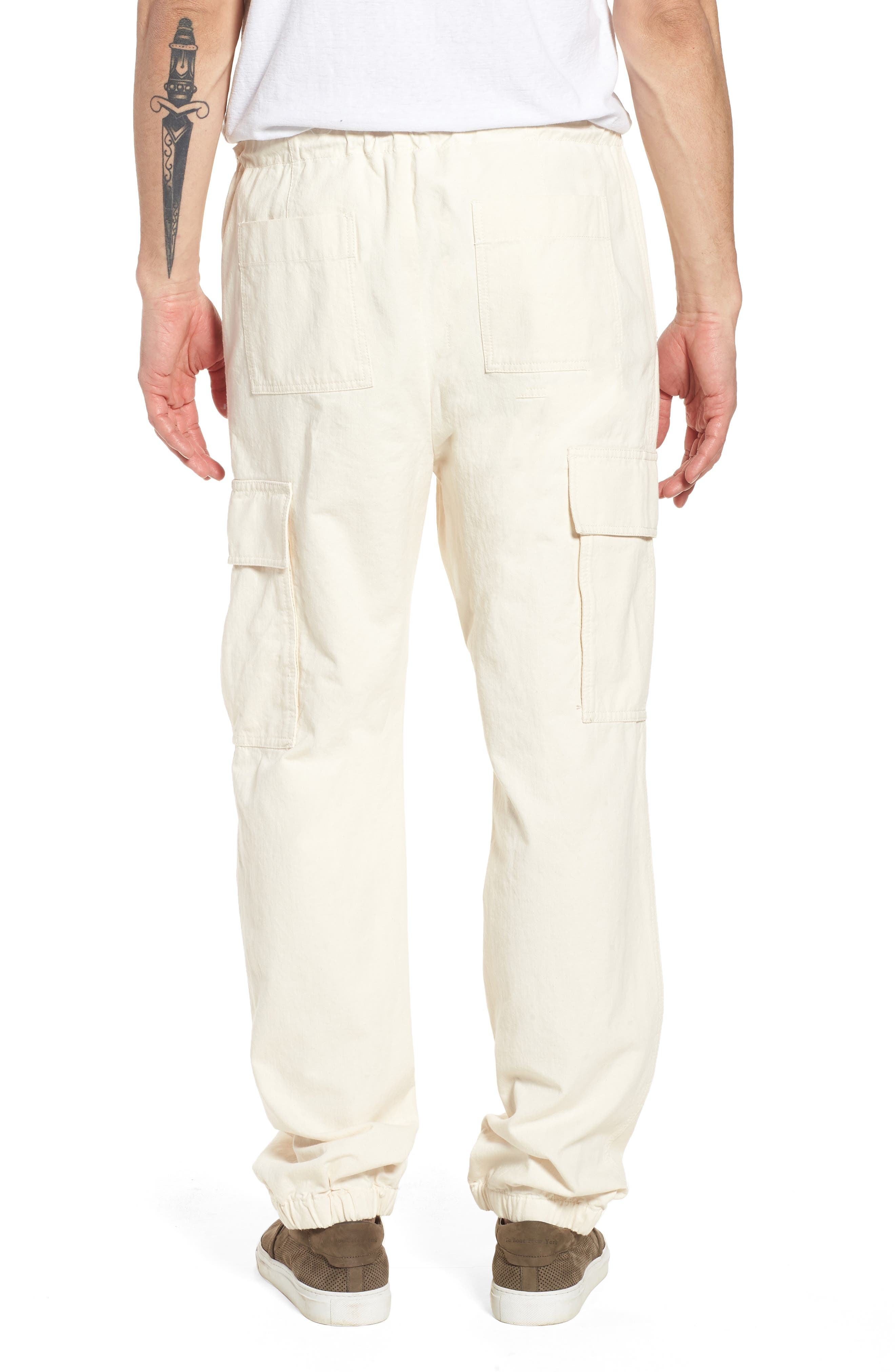 JAMES PERSE,                             Cargo Pants,                             Alternate thumbnail 2, color,                             IVORY