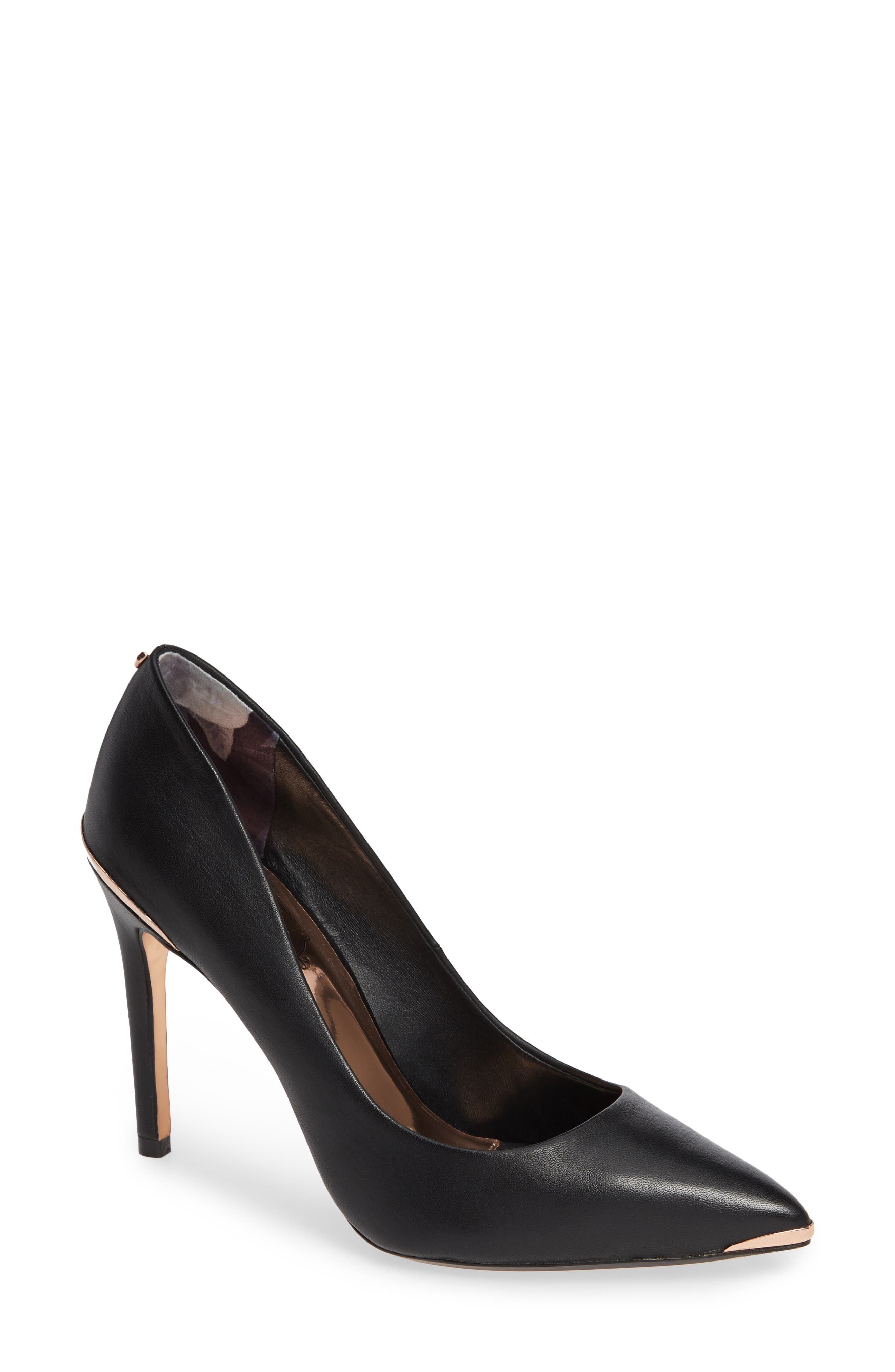 Izibeli Pump,                             Main thumbnail 1, color,                             BLACK LEATHER