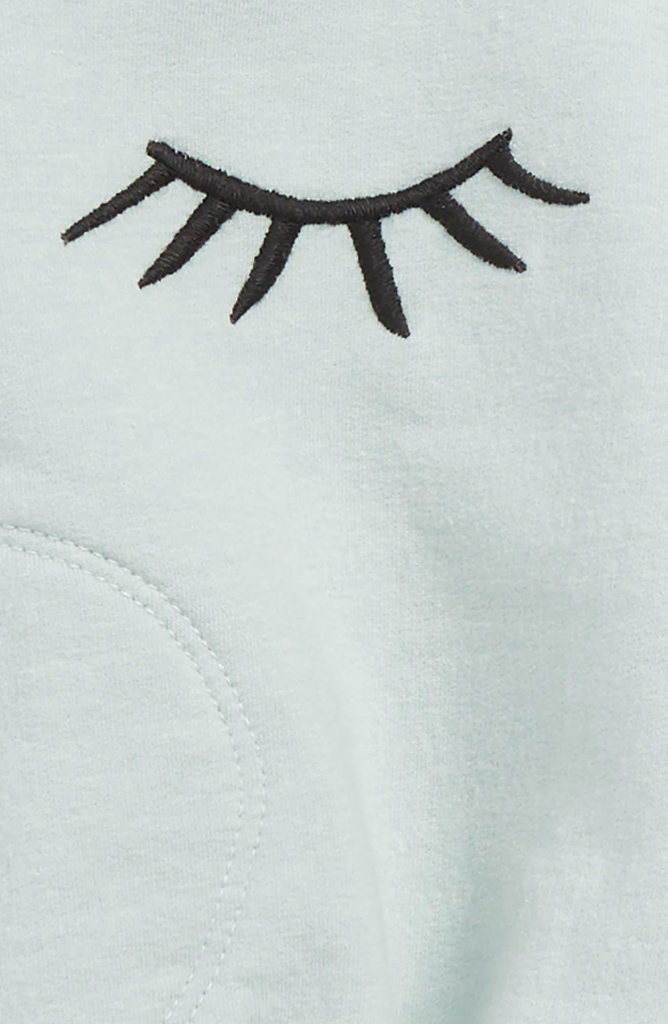 Ruffle Sweater & Leggings Set,                             Alternate thumbnail 2, color,                             TEAL TIDE- IVORY EYELASHES