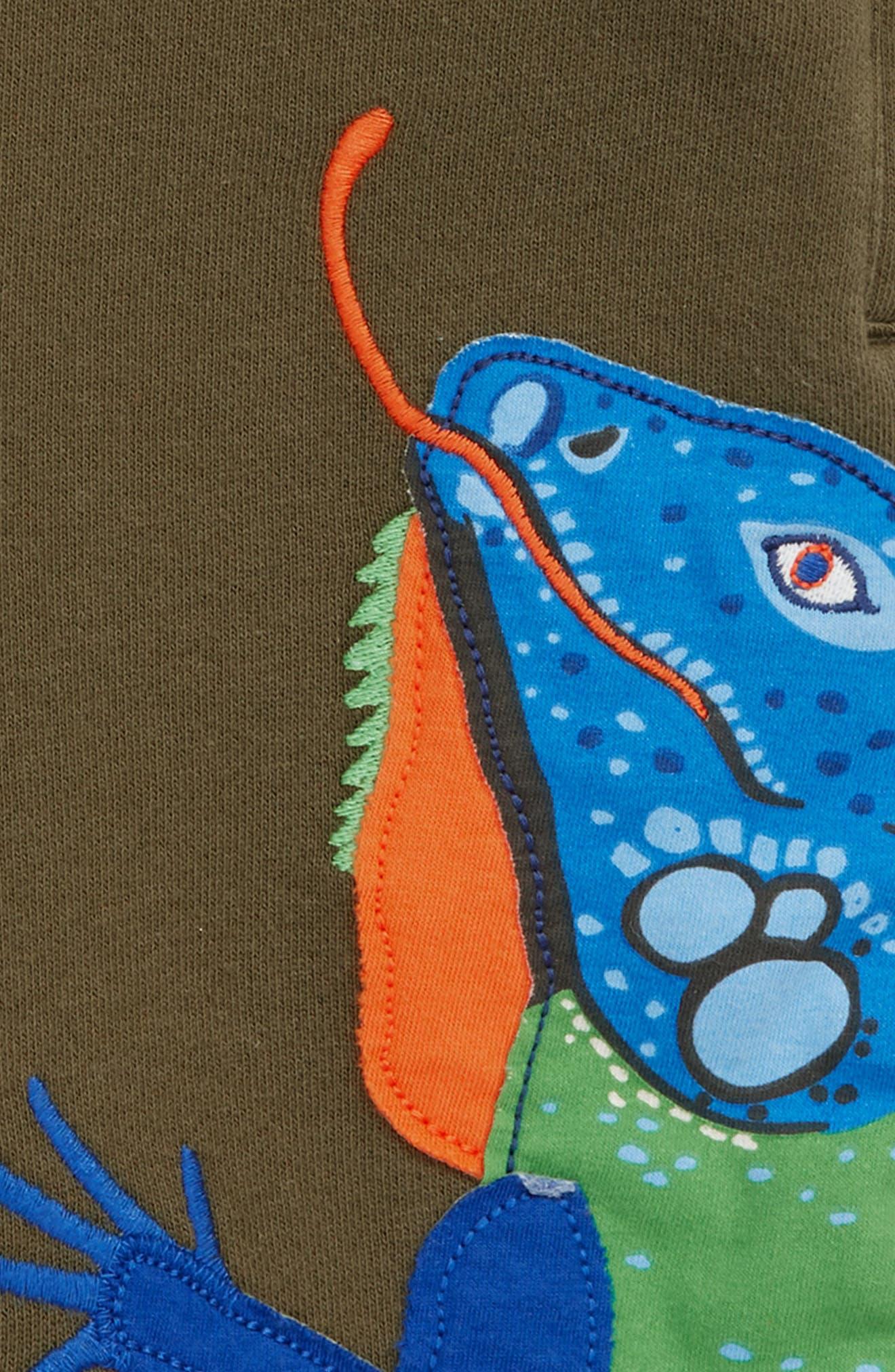 Iguana Appliqué Sweatshorts,                             Alternate thumbnail 3, color,                             304
