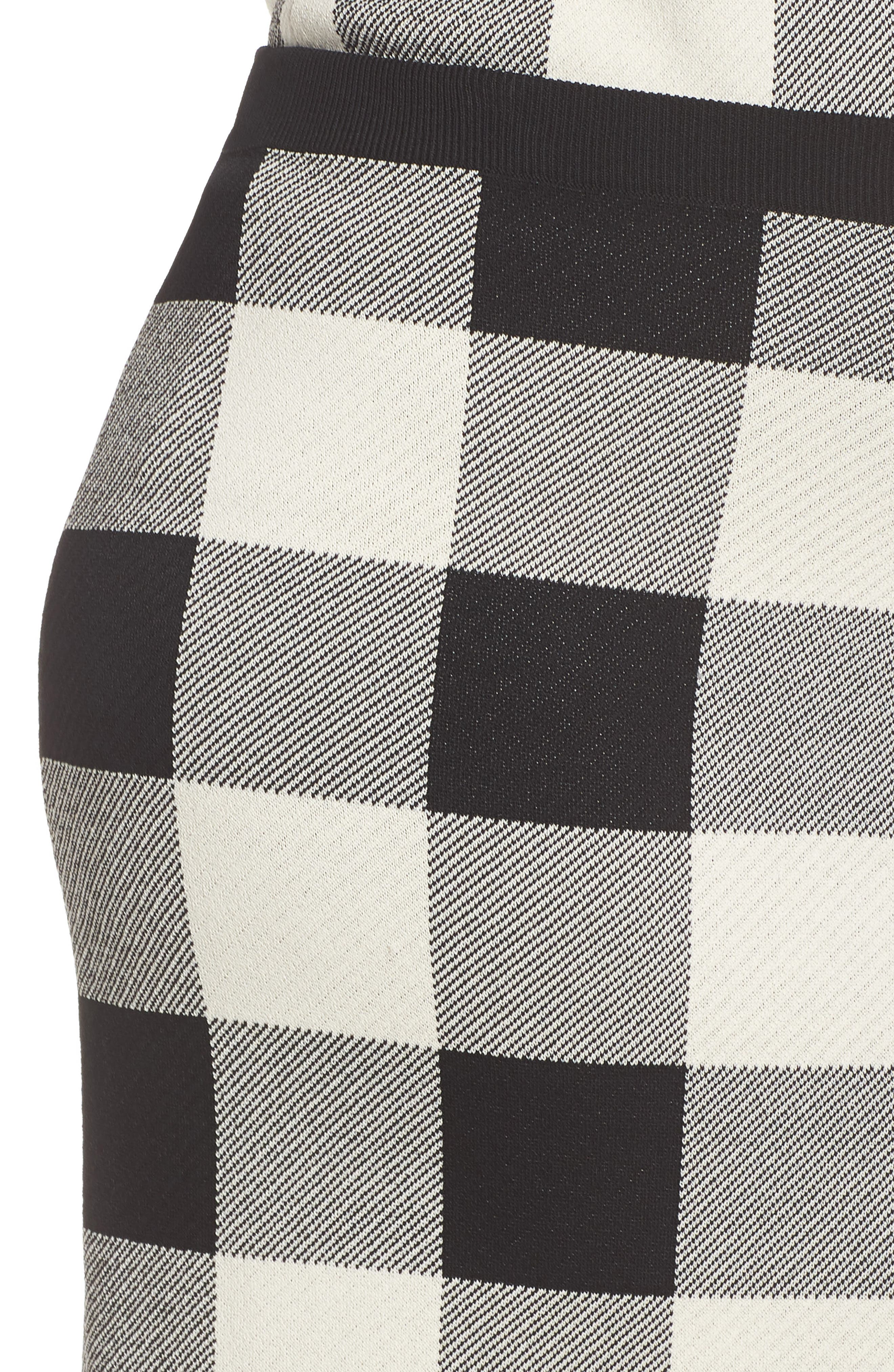 RACHEL RACHEL ROY,                             Raj Sweater Skirt,                             Alternate thumbnail 4, color,                             BLACK/CREAM