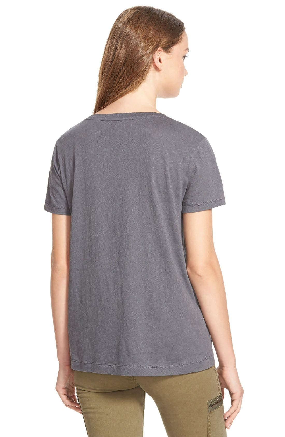 Whisper Cotton V-Neck Pocket Tee,                             Alternate thumbnail 93, color,