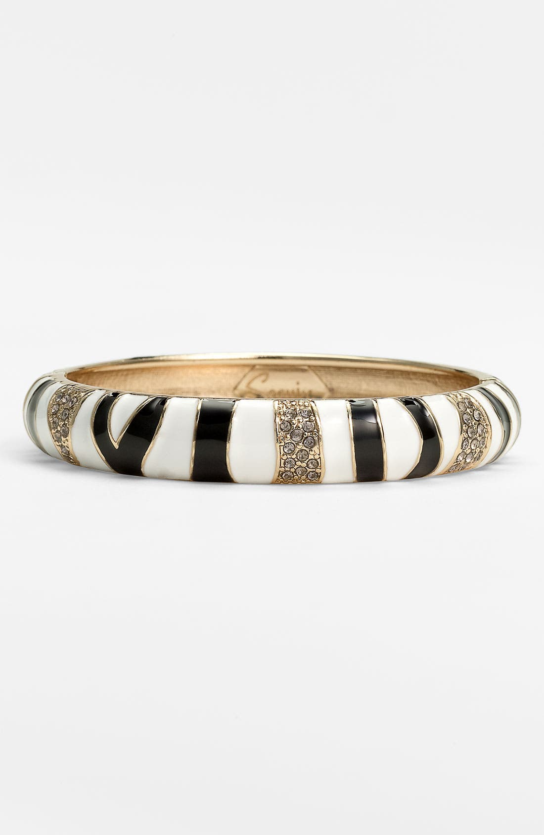 Medium Zebra Enamel Bangle,                             Main thumbnail 1, color,                             001