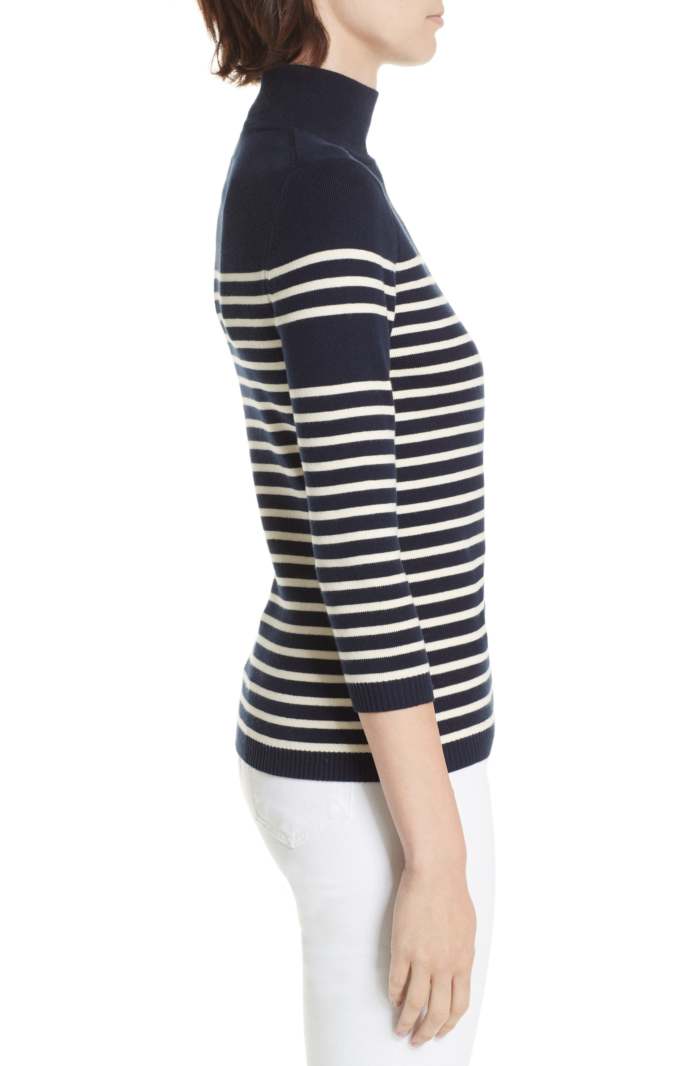 Classique Stripe Sweater,                             Alternate thumbnail 3, color,                             401