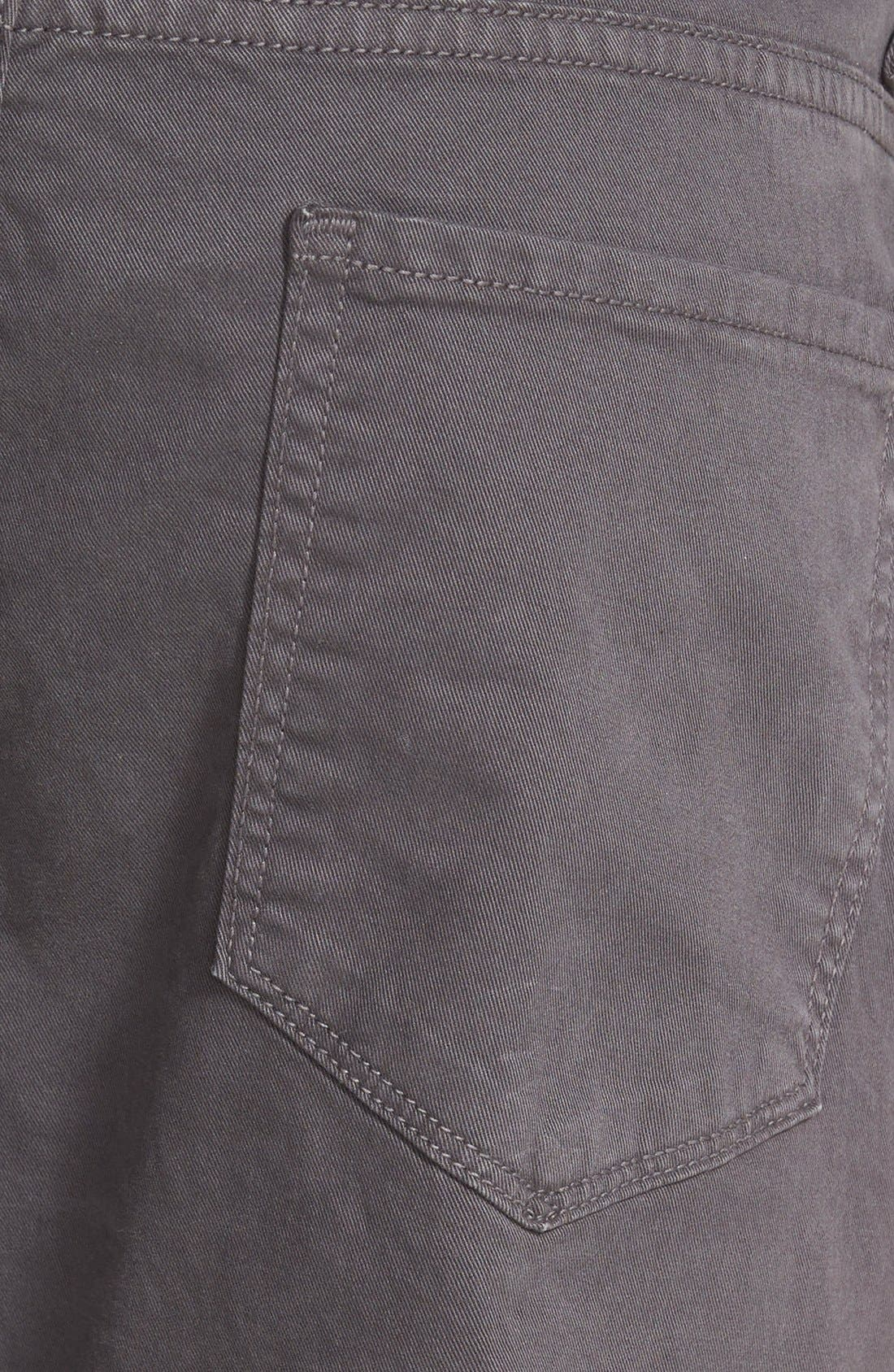 Normandie Slim Straight Leg Twill Pants,                             Alternate thumbnail 2, color,                             SOOT DARK GREY