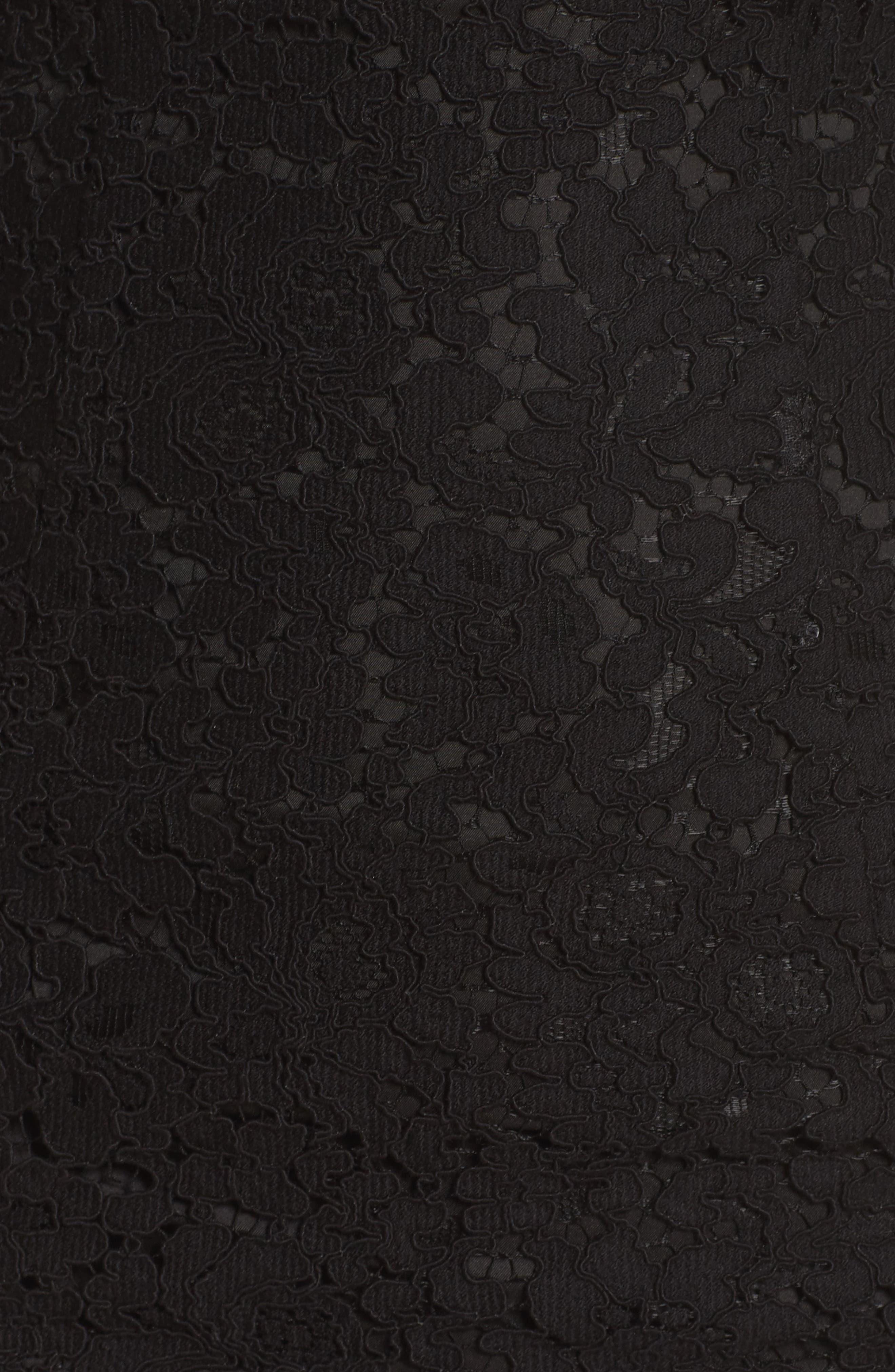 Karlie Cold Shoulder Lace Dress,                             Alternate thumbnail 5, color,                             001