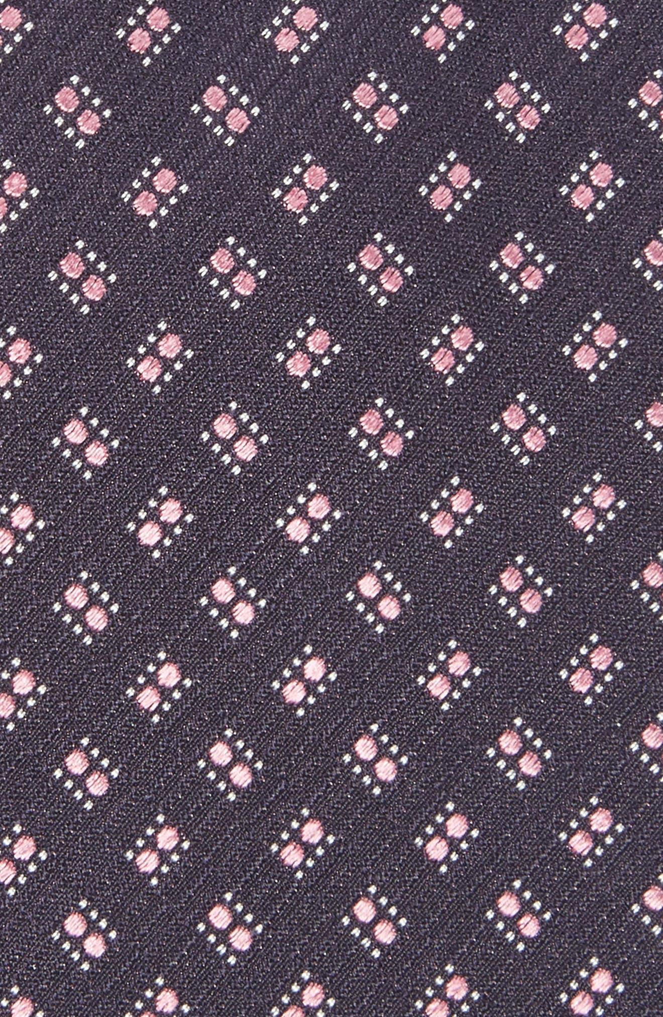 Geometric Silk Tie,                             Alternate thumbnail 3, color,