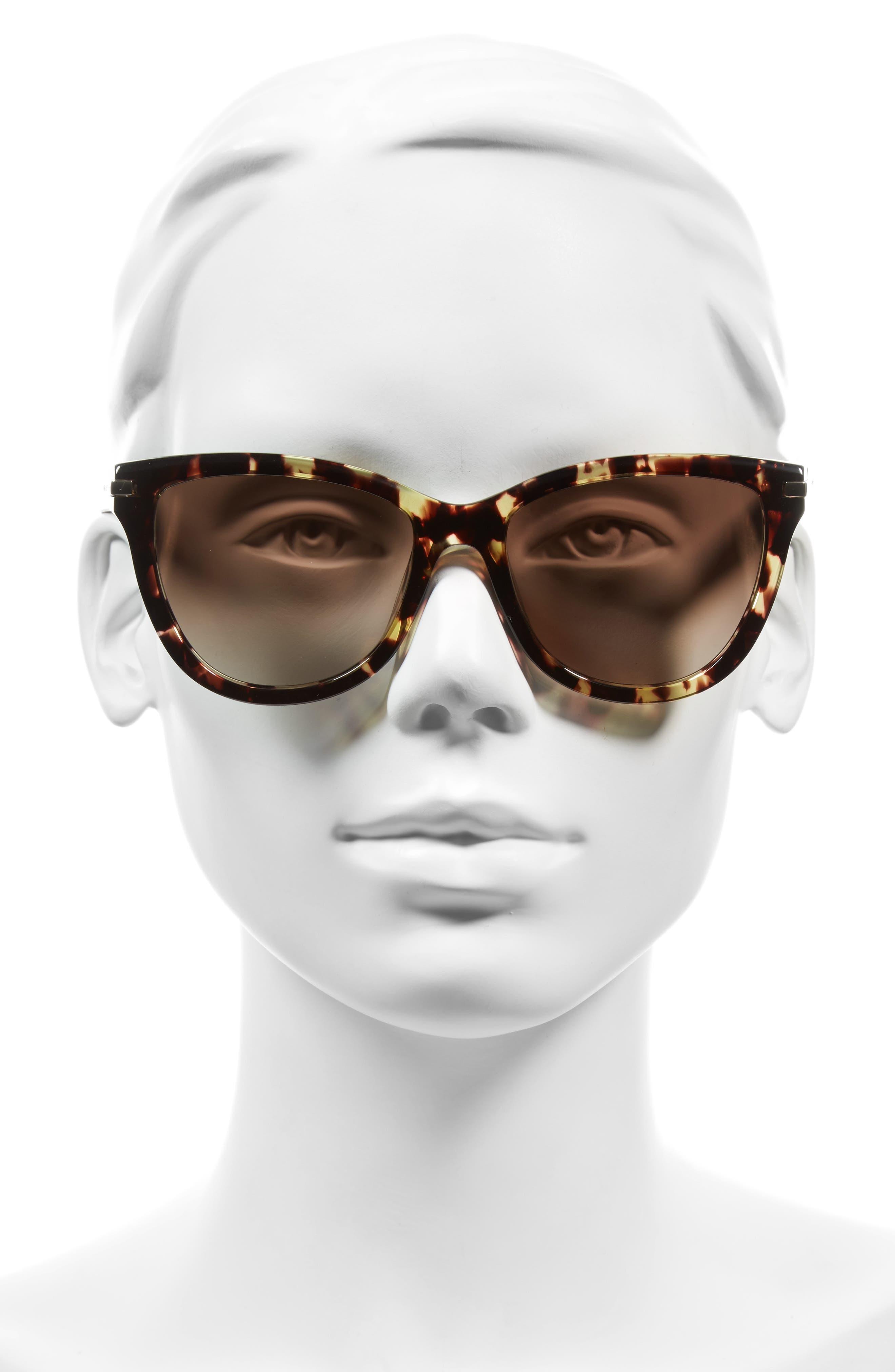 MARC JACOBS,                             54mm Sunglasses,                             Alternate thumbnail 2, color,                             CRYSTAL HAVANA