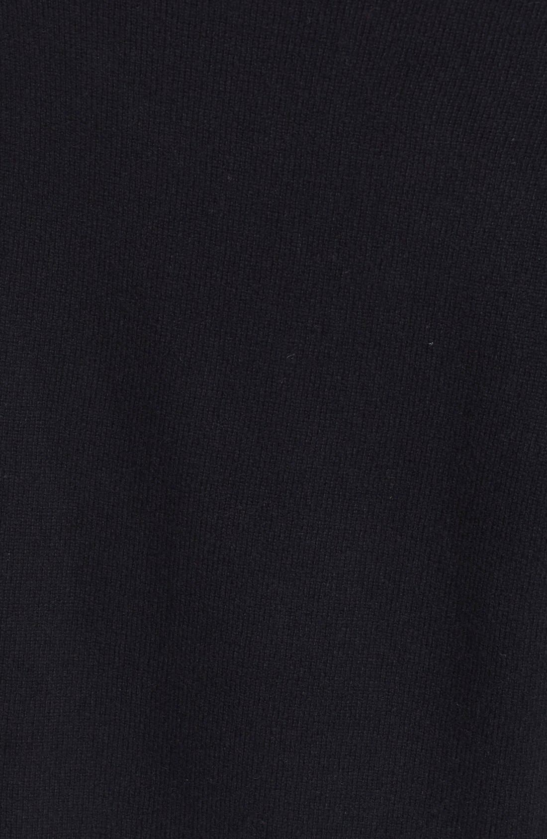 VINCE,                             Cashmere Off the Shoulder Pullover,                             Alternate thumbnail 5, color,                             001