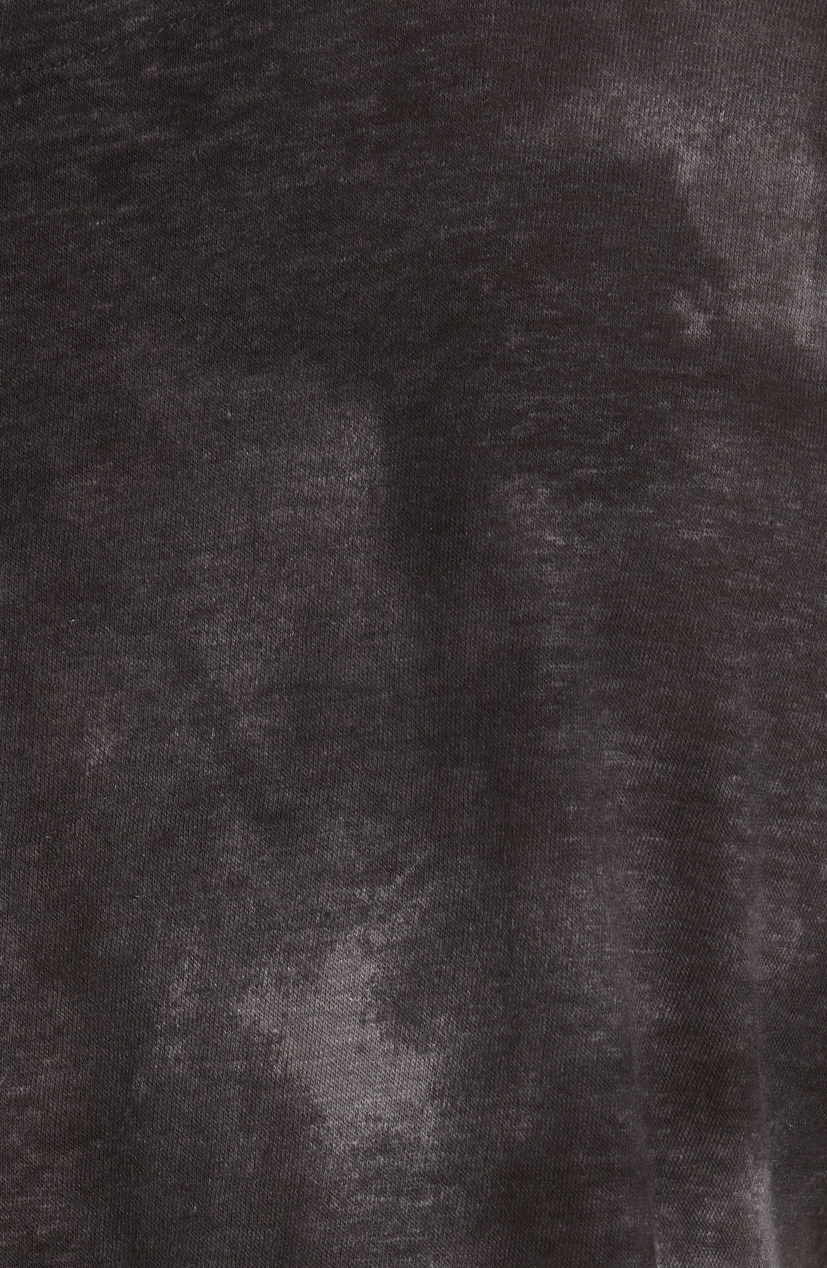 Tie Dye T-Shirt,                             Alternate thumbnail 5, color,                             DARK GREY